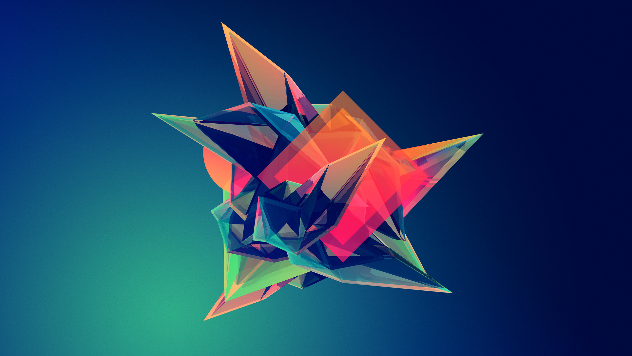 2560x1440 Facets Artwork Geometry Abstract