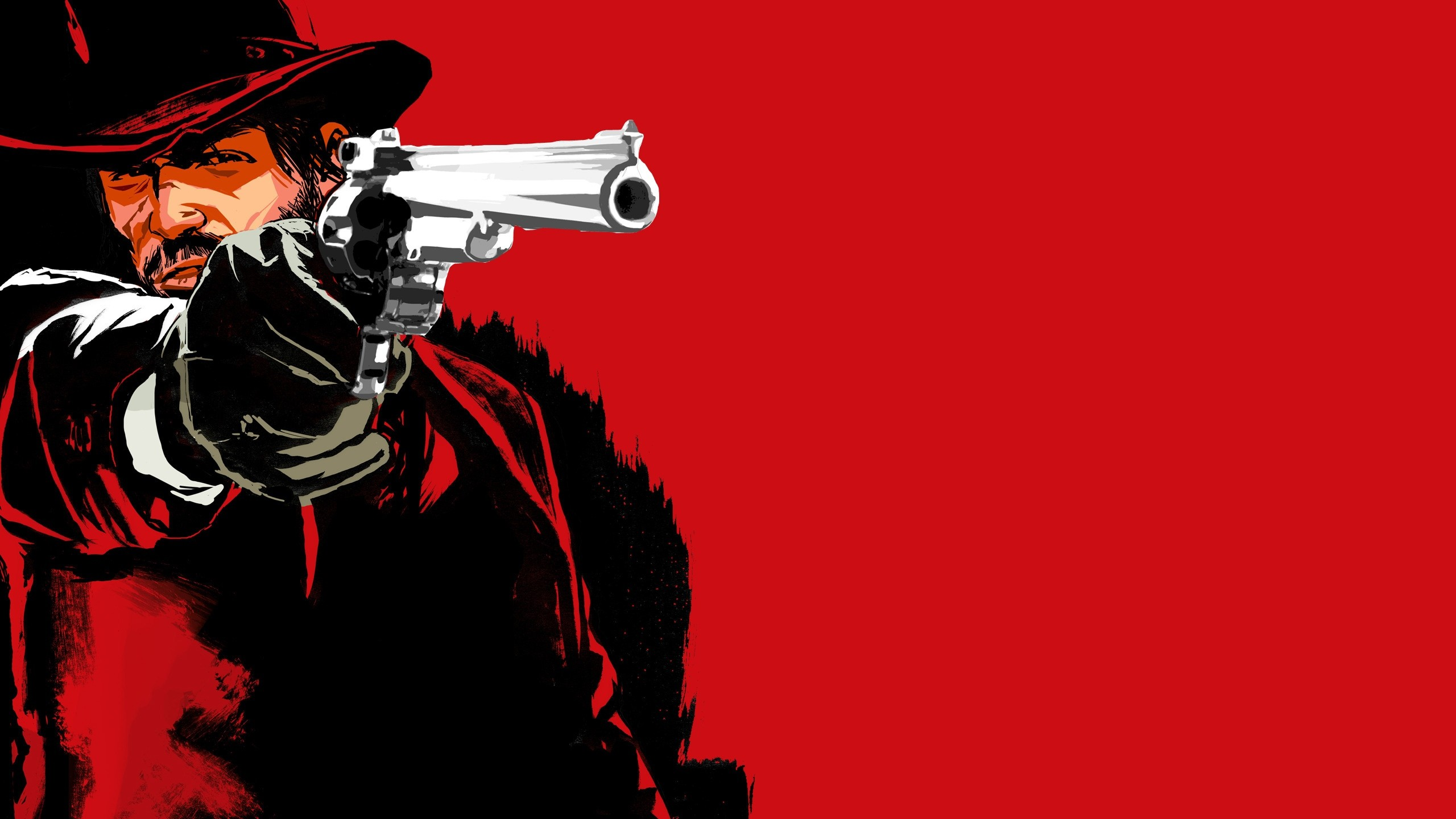 2560x1440  Wallpaper red dead redemption game, pistol, cowboy, hat