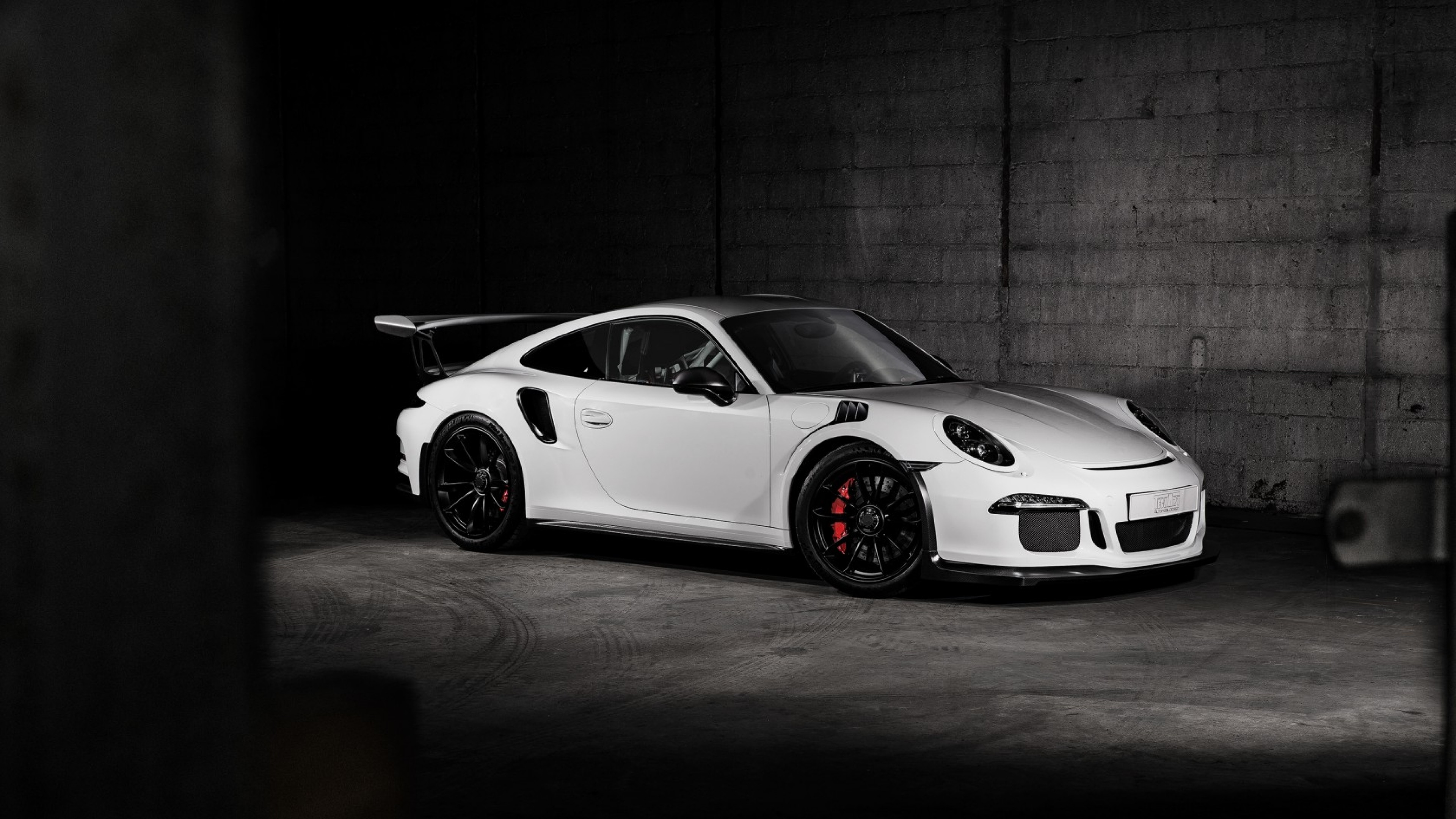 3840x2160 Preview wallpaper porsche, 911, gt3, side view, white
