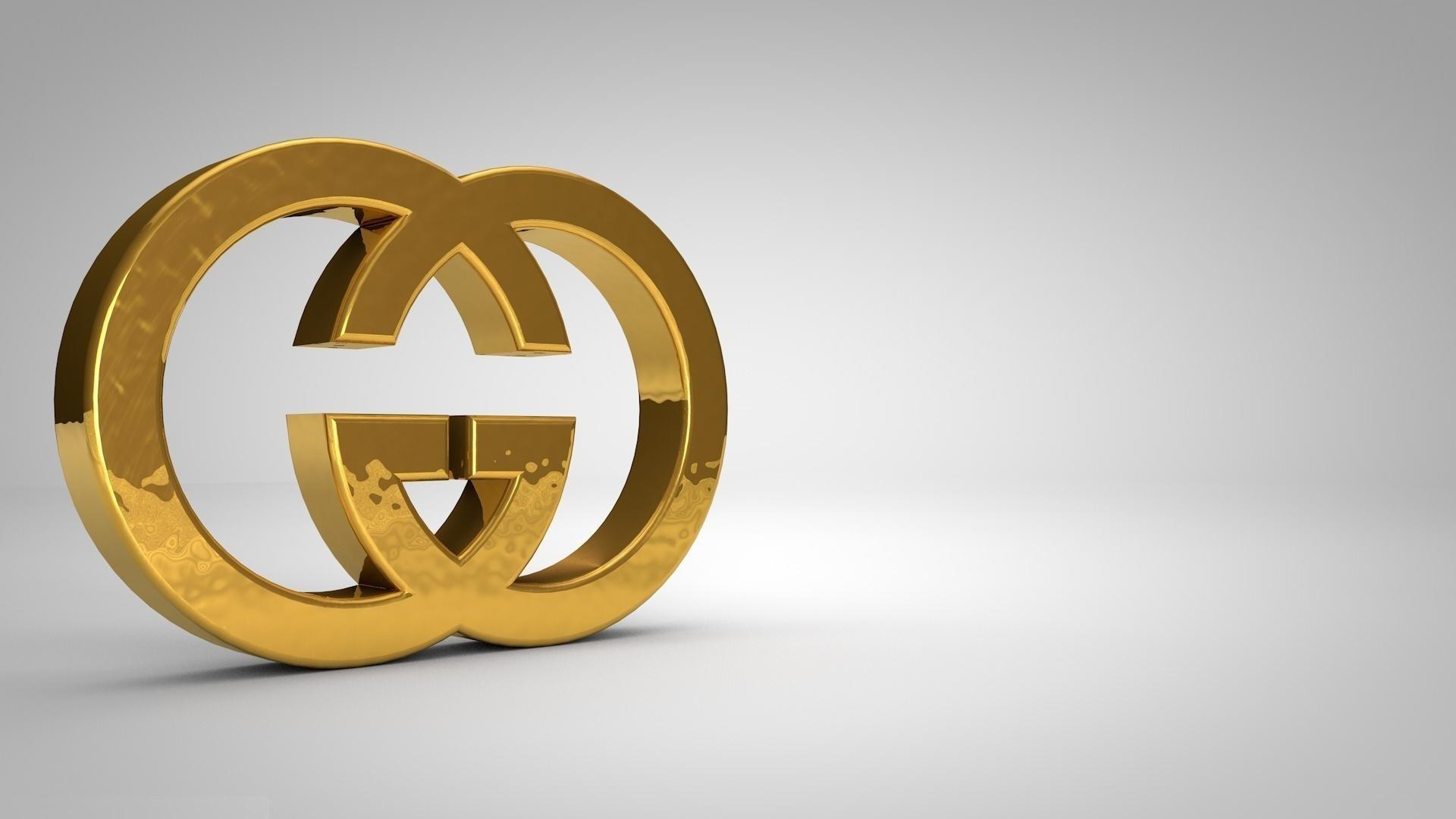 Gucci logo wallpaper 63 images for Gold 3d wallpaper