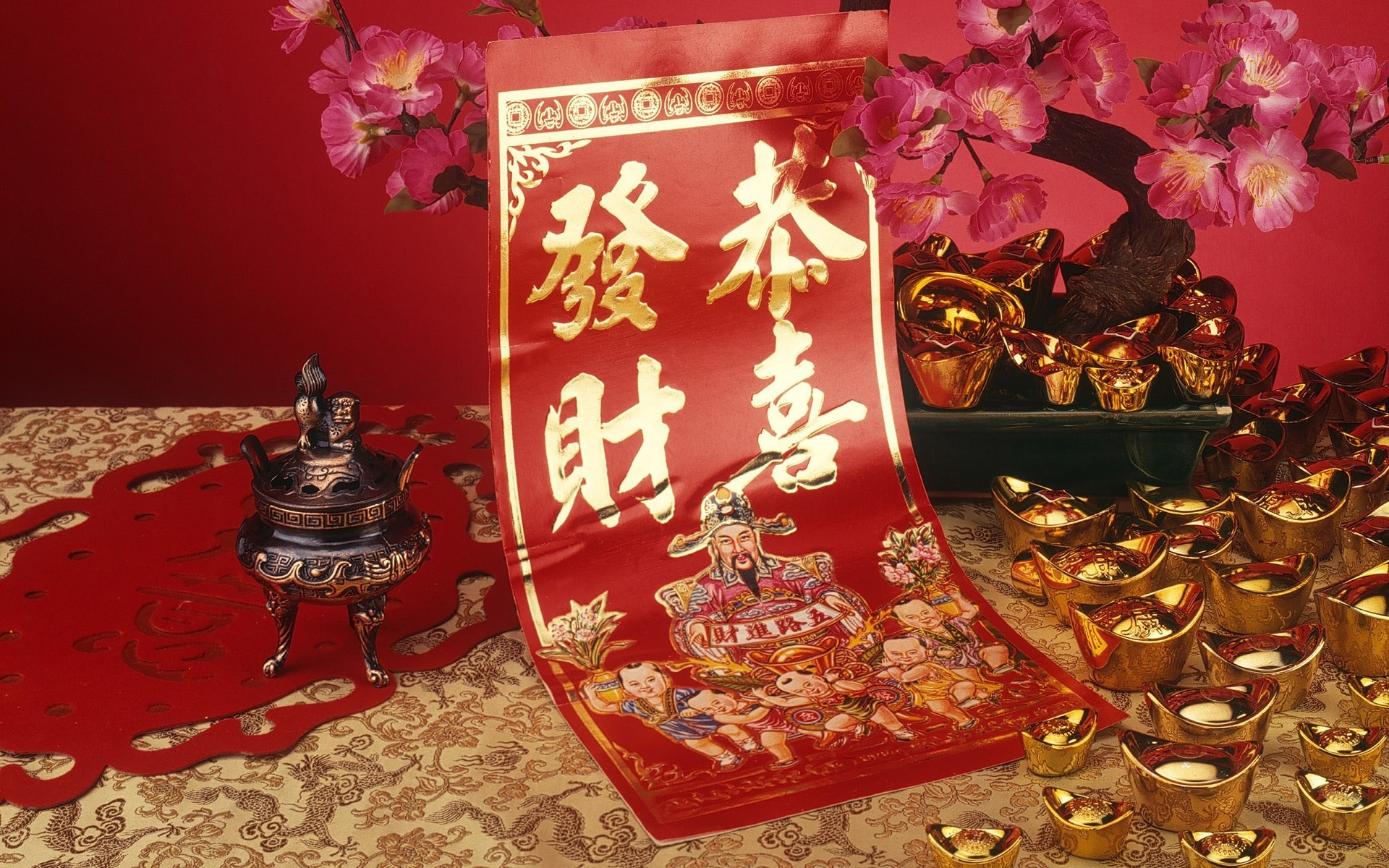 1920x1200 Chinese New Year holiday celebration party festival lunar Cultural  religious Chinese folk religion Buddhist Confucian Daoism asian oriental  1cny china ...