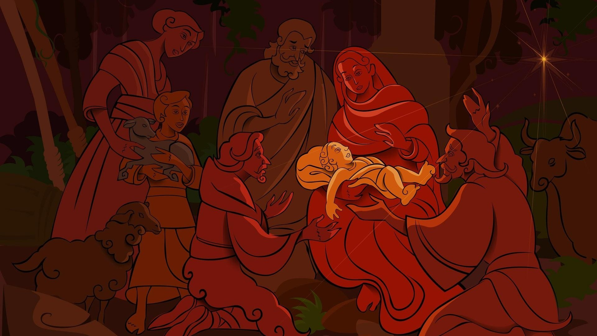 1920x1080 jesus, christmas, holiday