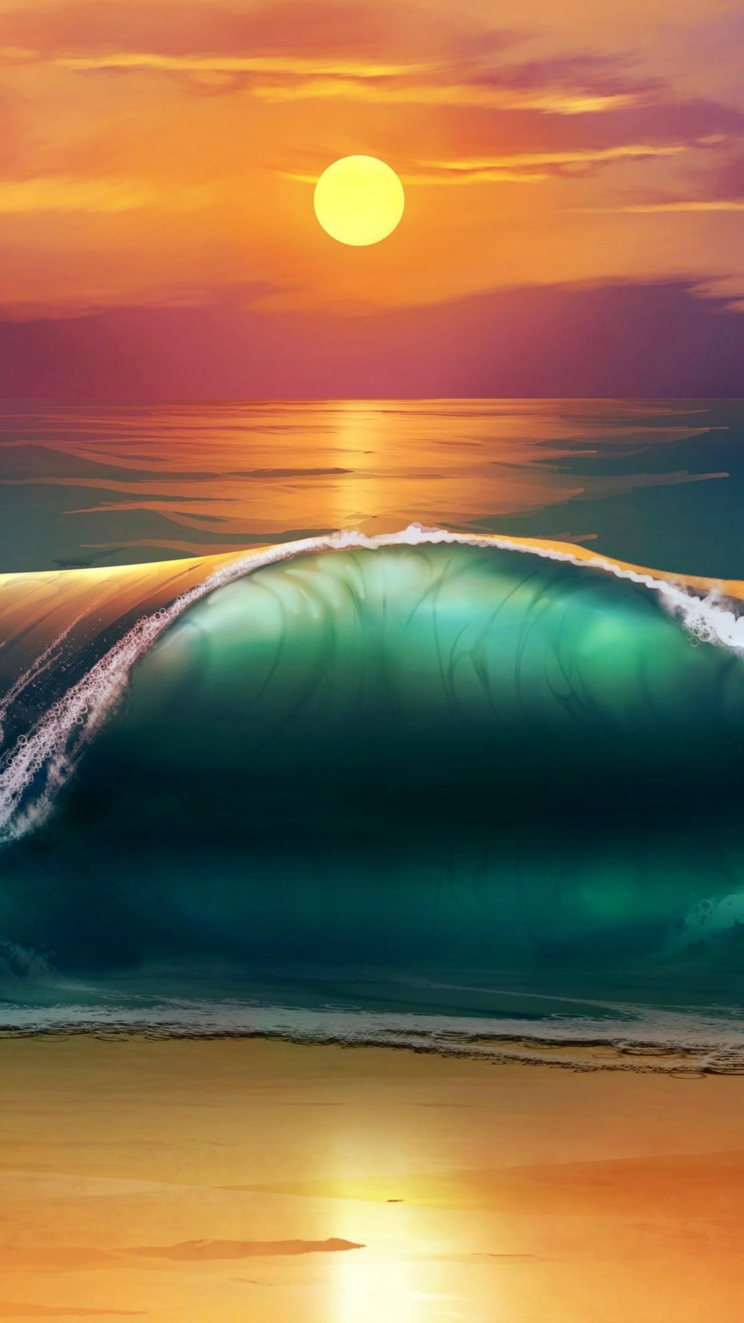Beach Wave Wallpaper (67+ images)