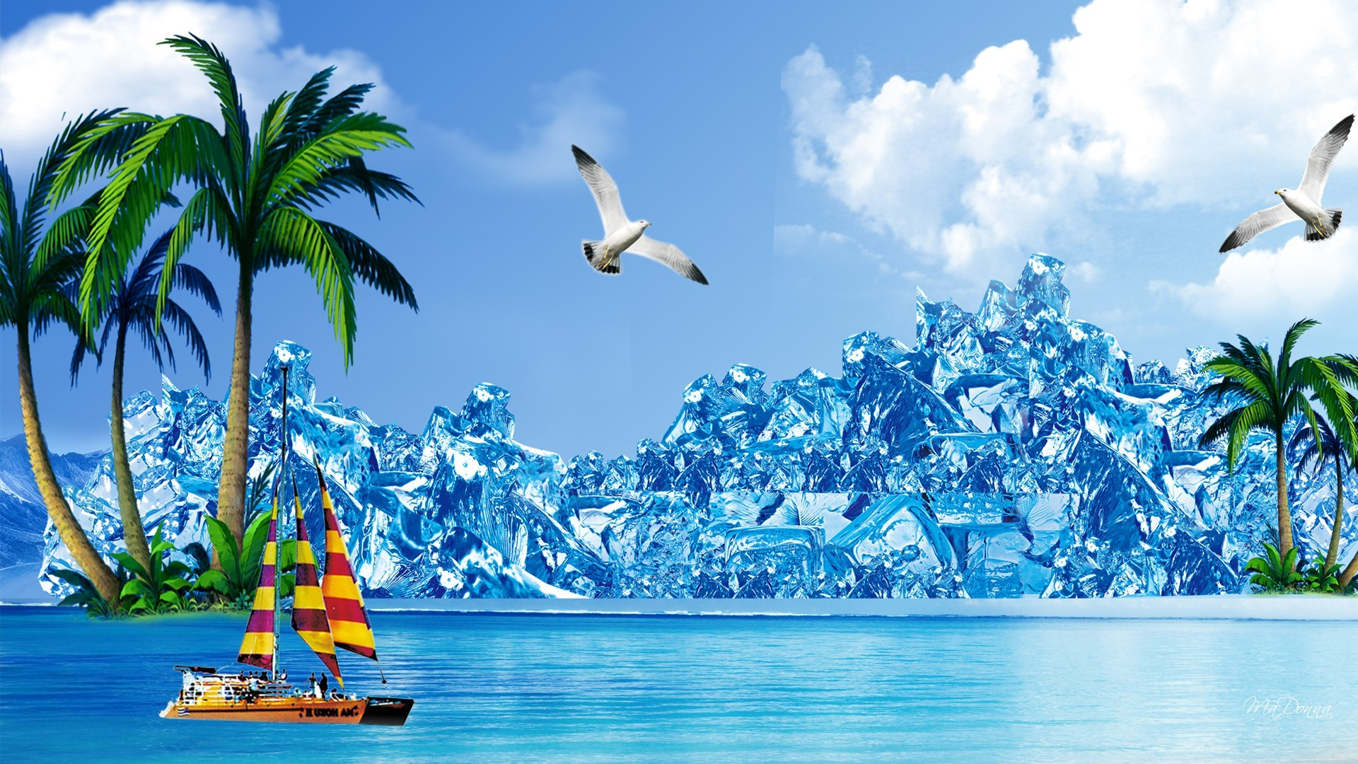 1920x1080 Summer Wallpaper - Ice Berg Cool HD Free Desktop Wallpaper