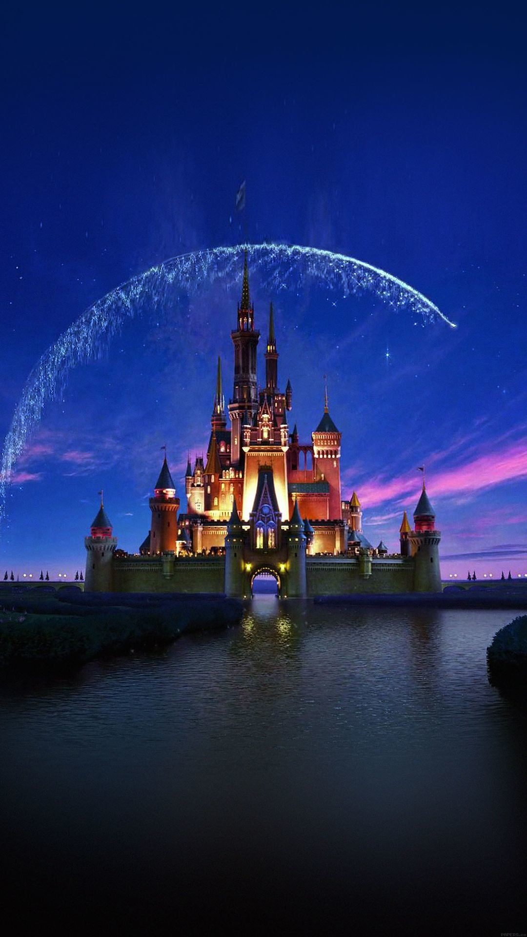 1080x1920 Tap image for more iPhone Disney wallpaper! Disney castle artwork -  @mobile9 | Wallpapers
