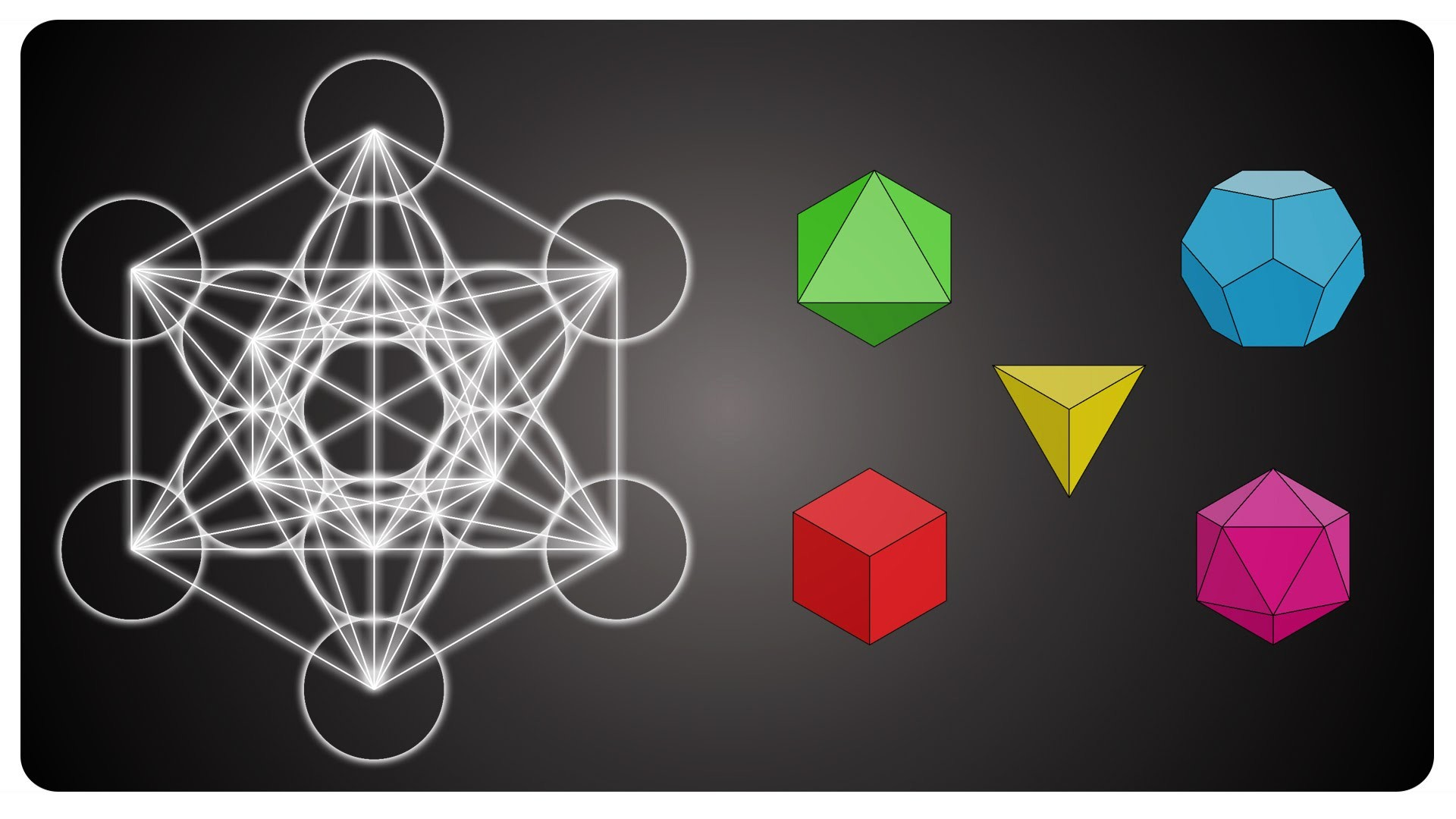 1920x1080 Metatron's cube and the platonic solids - sacred geometry (english version)  - YouTube