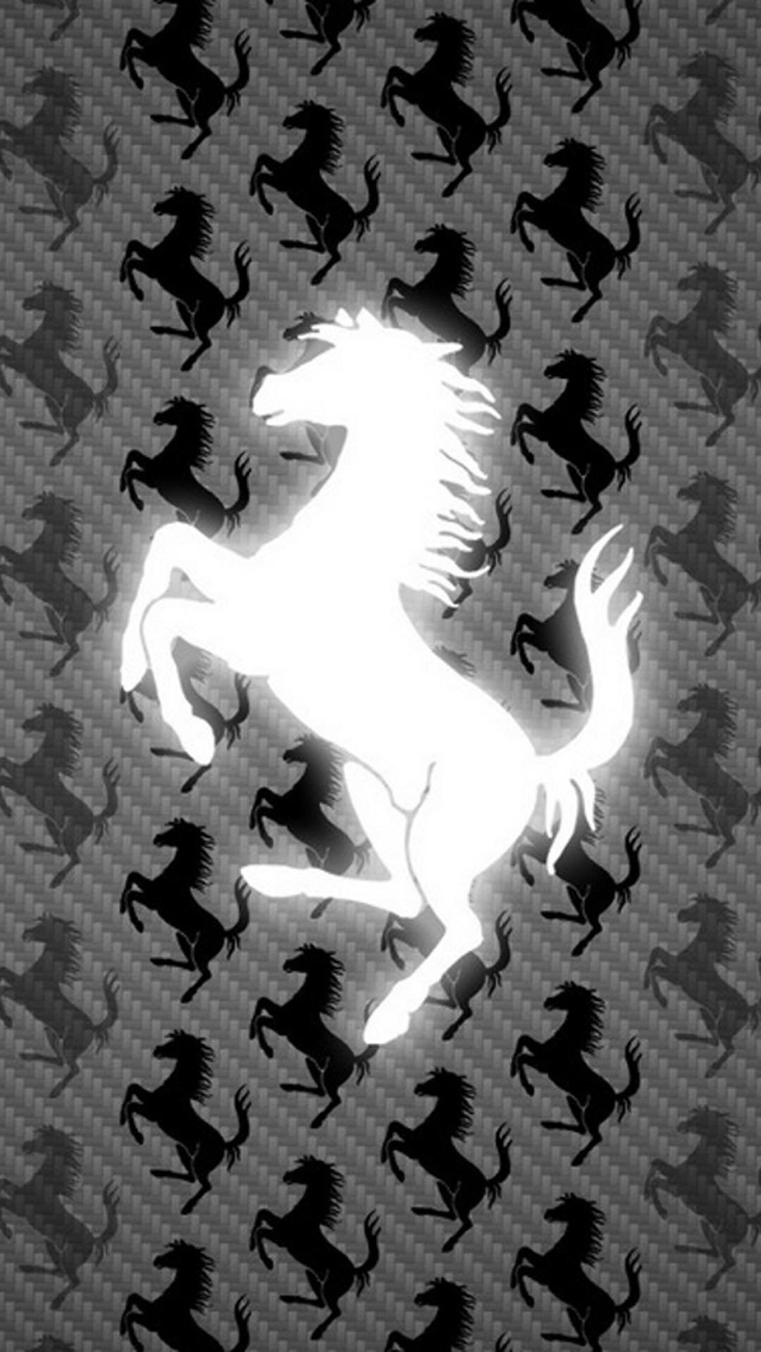 Ferrari Logo Wallpaper 4K Iphone