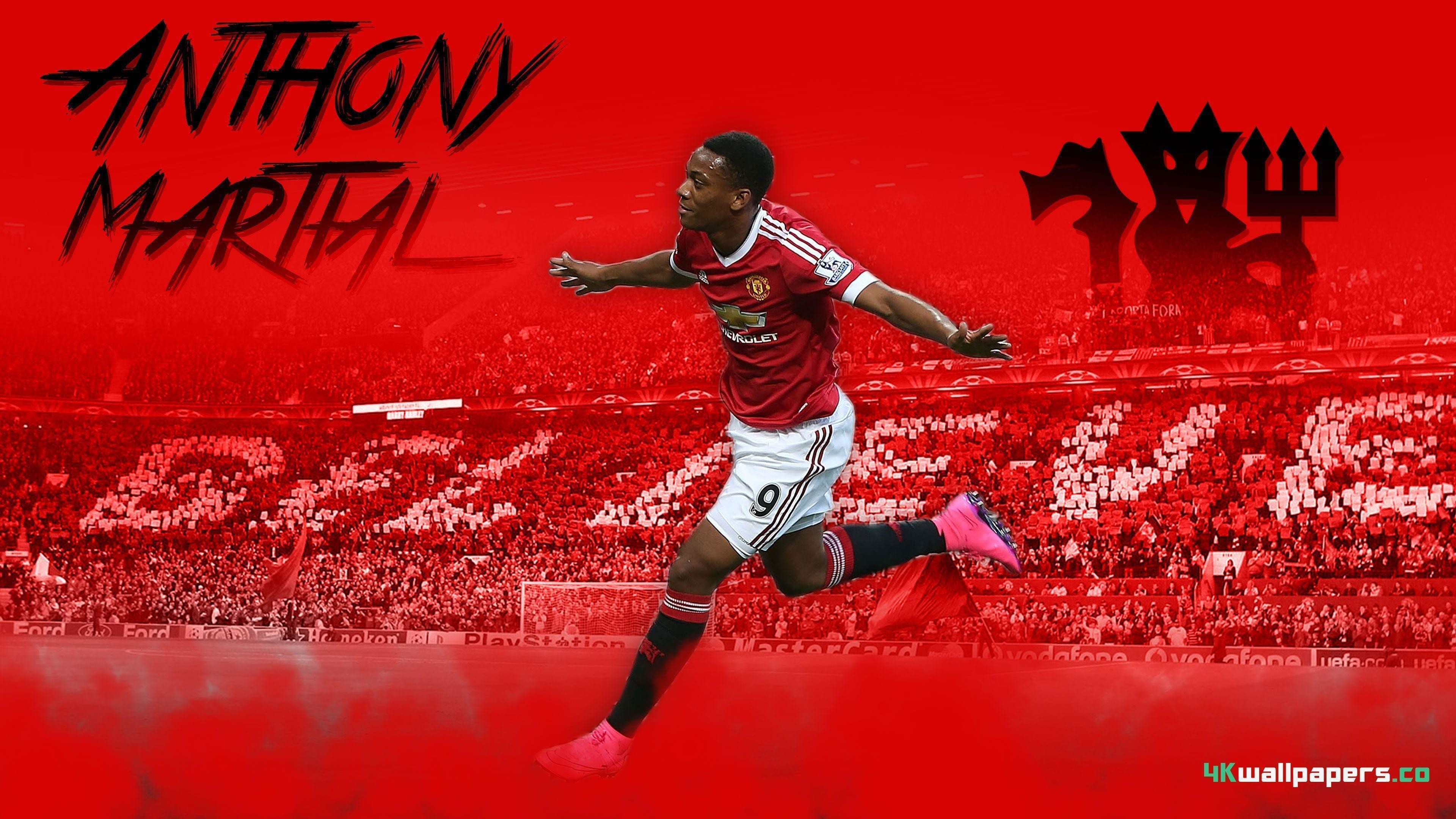 df6a63cbe 3840x2160 Anthony Martial 2015 Manchester United 4K Wallpapers free desktop  .
