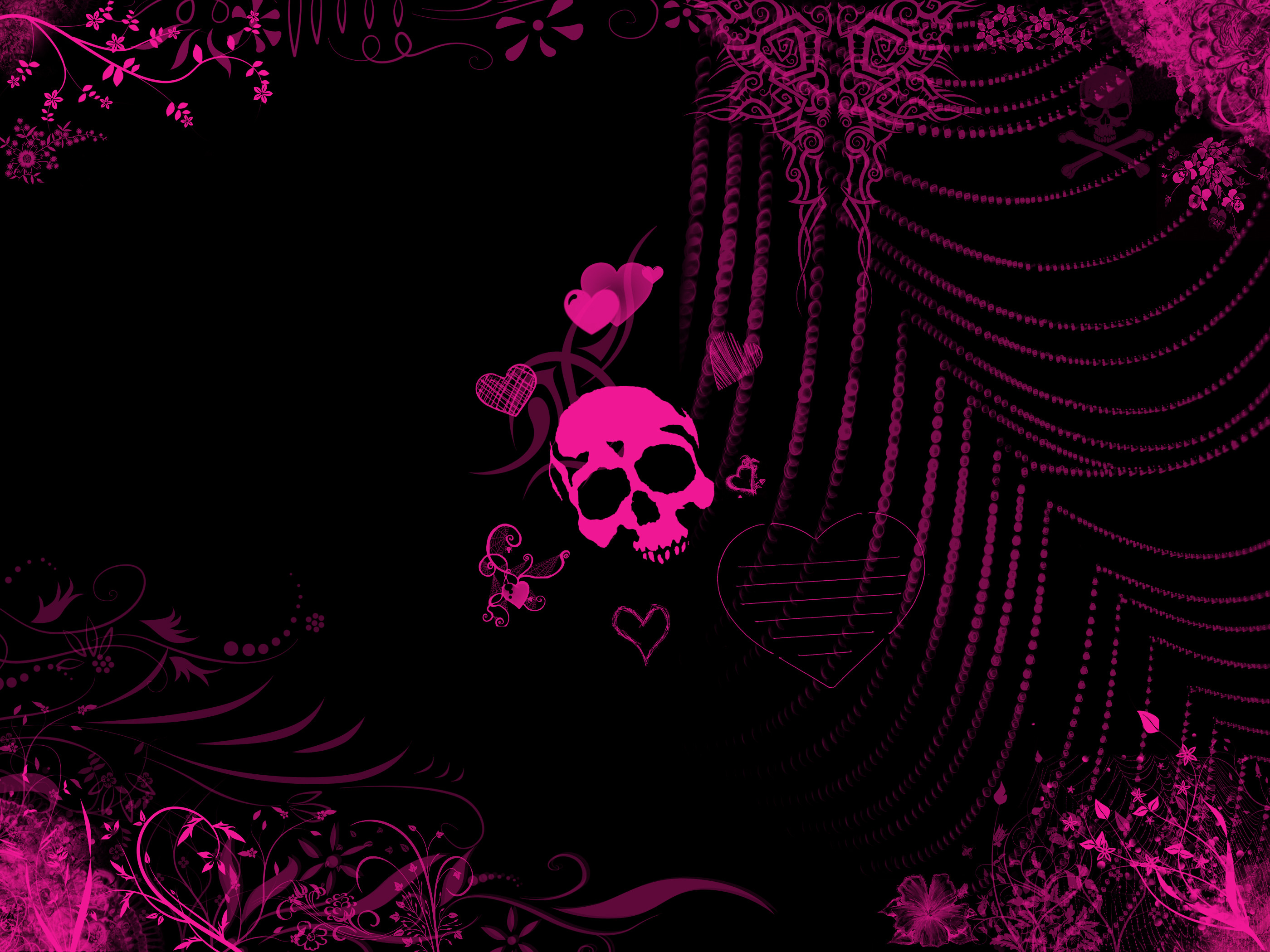 2800x2100 Girly Skull Wallpaper Related wallpaper for pink emo