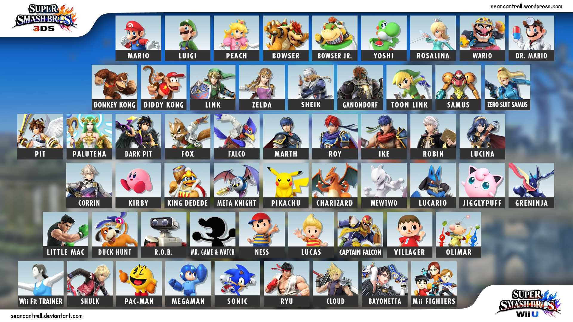 1920x1080 smashbrostiles_layout. Character Panel Wallpaper