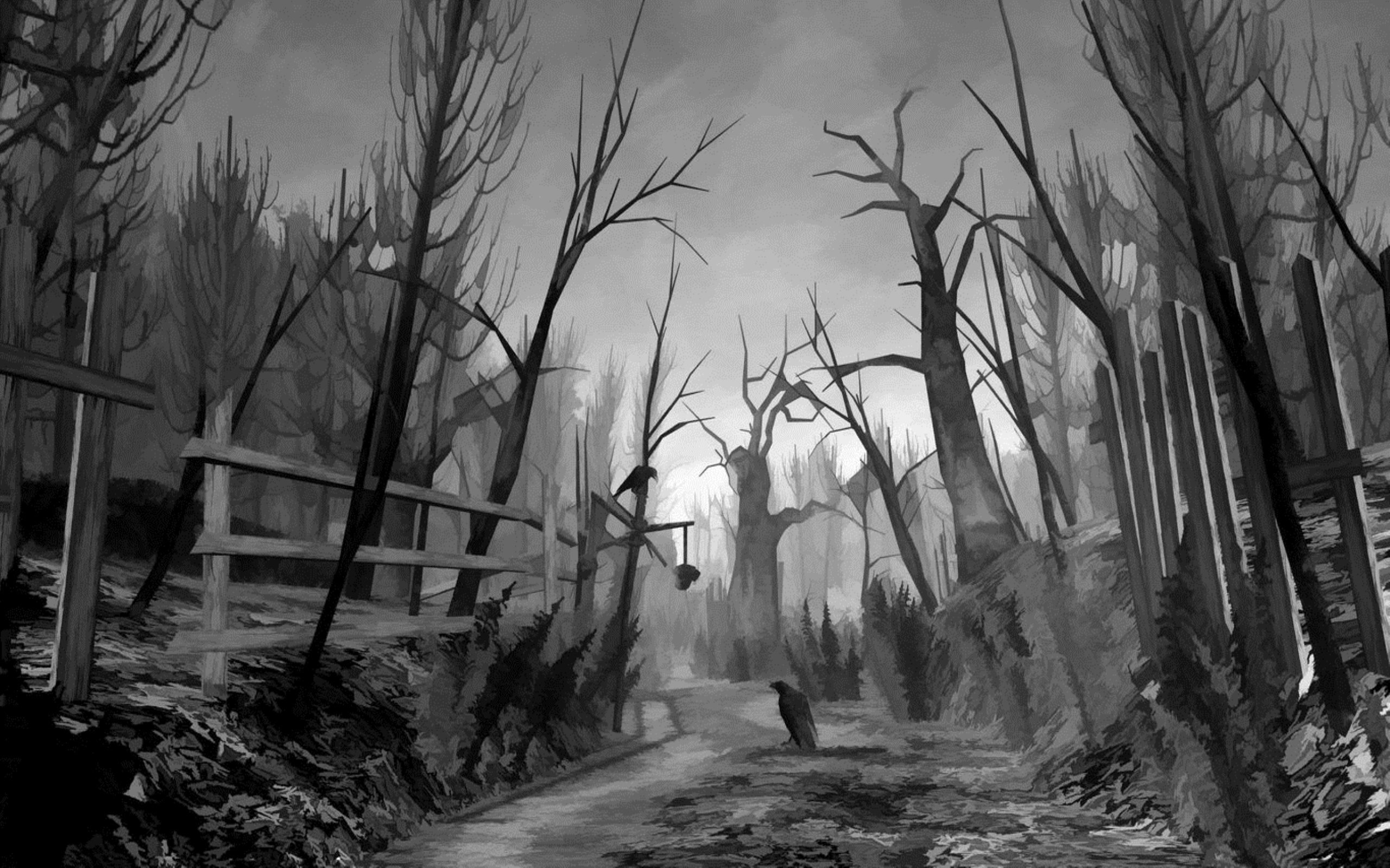 Dark scary forest wallpaper 64 images - Dark horror creepy wallpapers ...