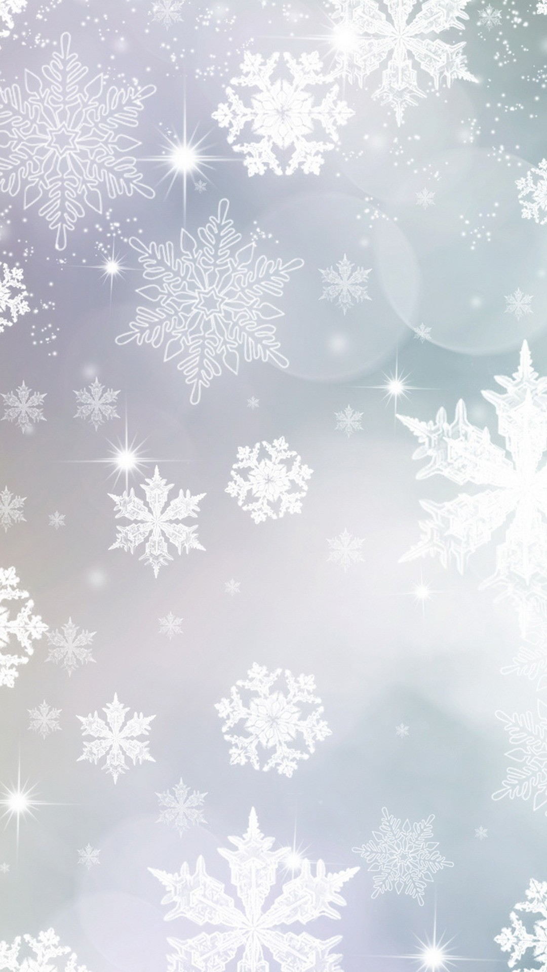 1080x1920 light blue and purple snowflakes Christmas iPhone 6 plus wallpaper