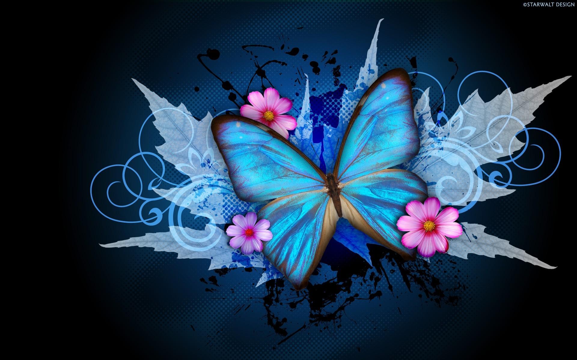 1920x1080 Purple Butterfly Hd Wallpapaer