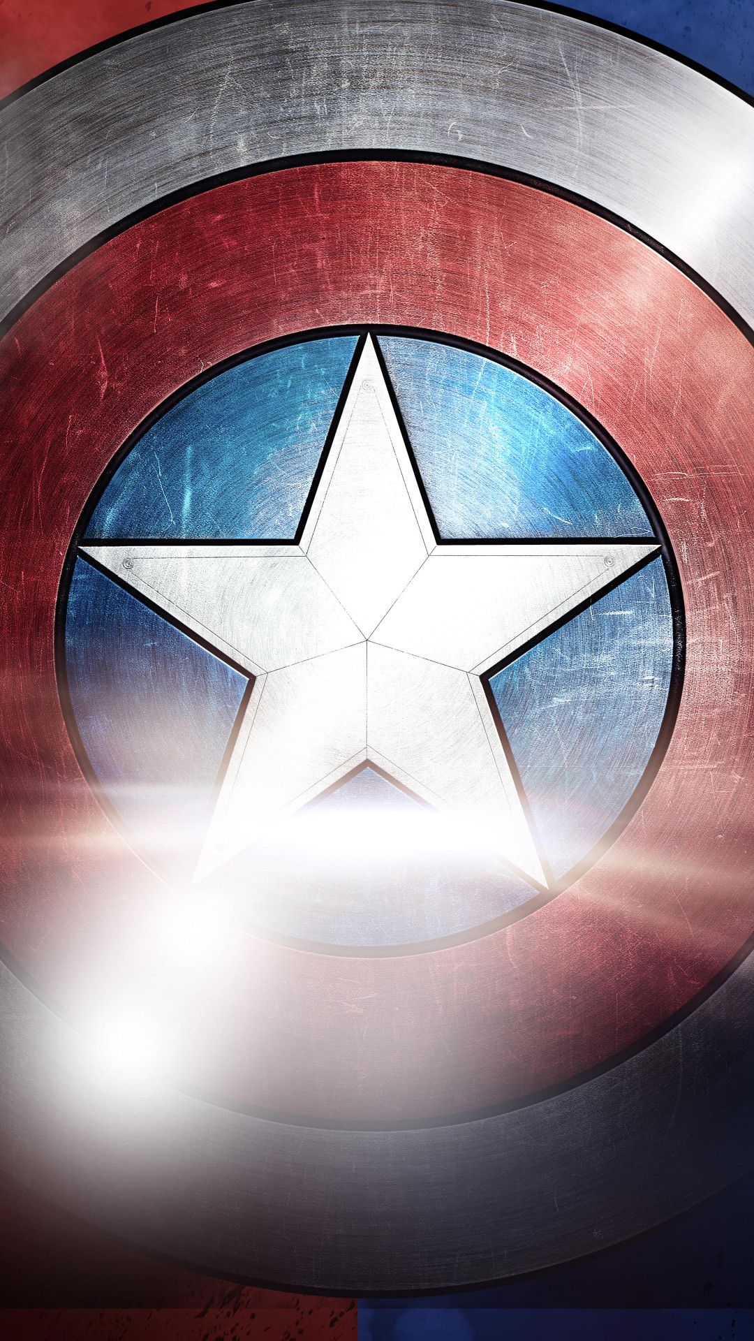 1080x1920  Symmetry, Circle, Graphics, Marvel Comics, Captain Americas Shield  Wallpaper for IPhone 6S+/7+/8+