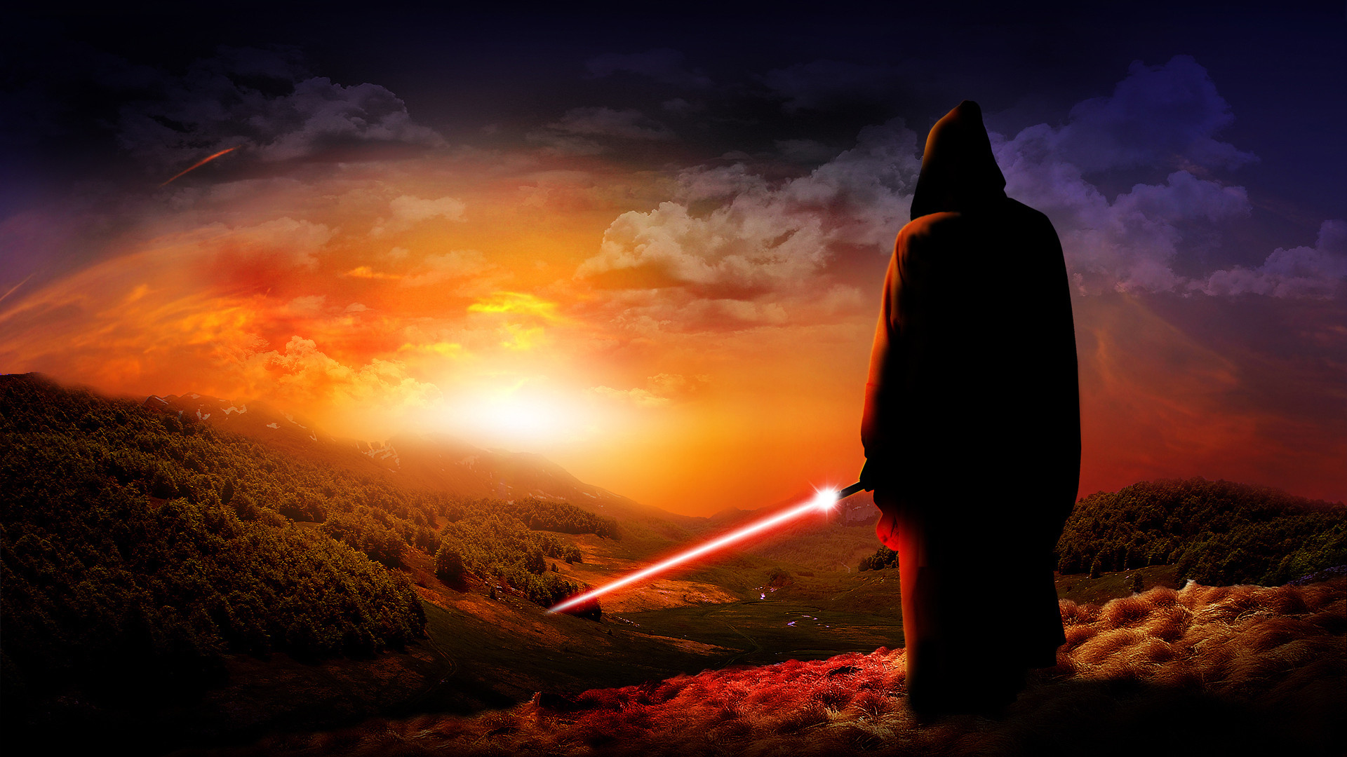 1920x1080 Black Background Dark Background Jedi Lightsabers Sith Star Wars free  iPhone or Android Full HD wallpaper.