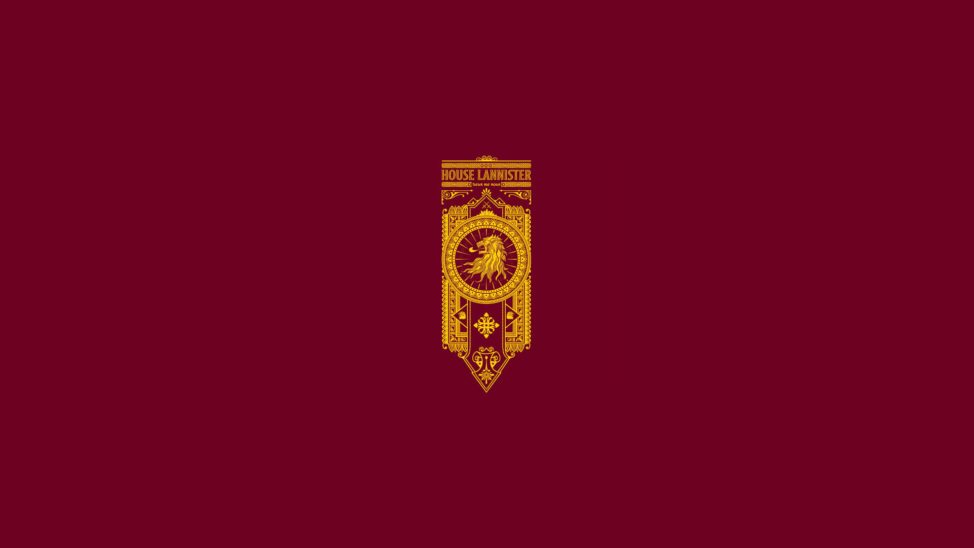 1920x1080 House Lannister, Hear me roar, sigil, banner Game of Thrones banners  wallpapers,
