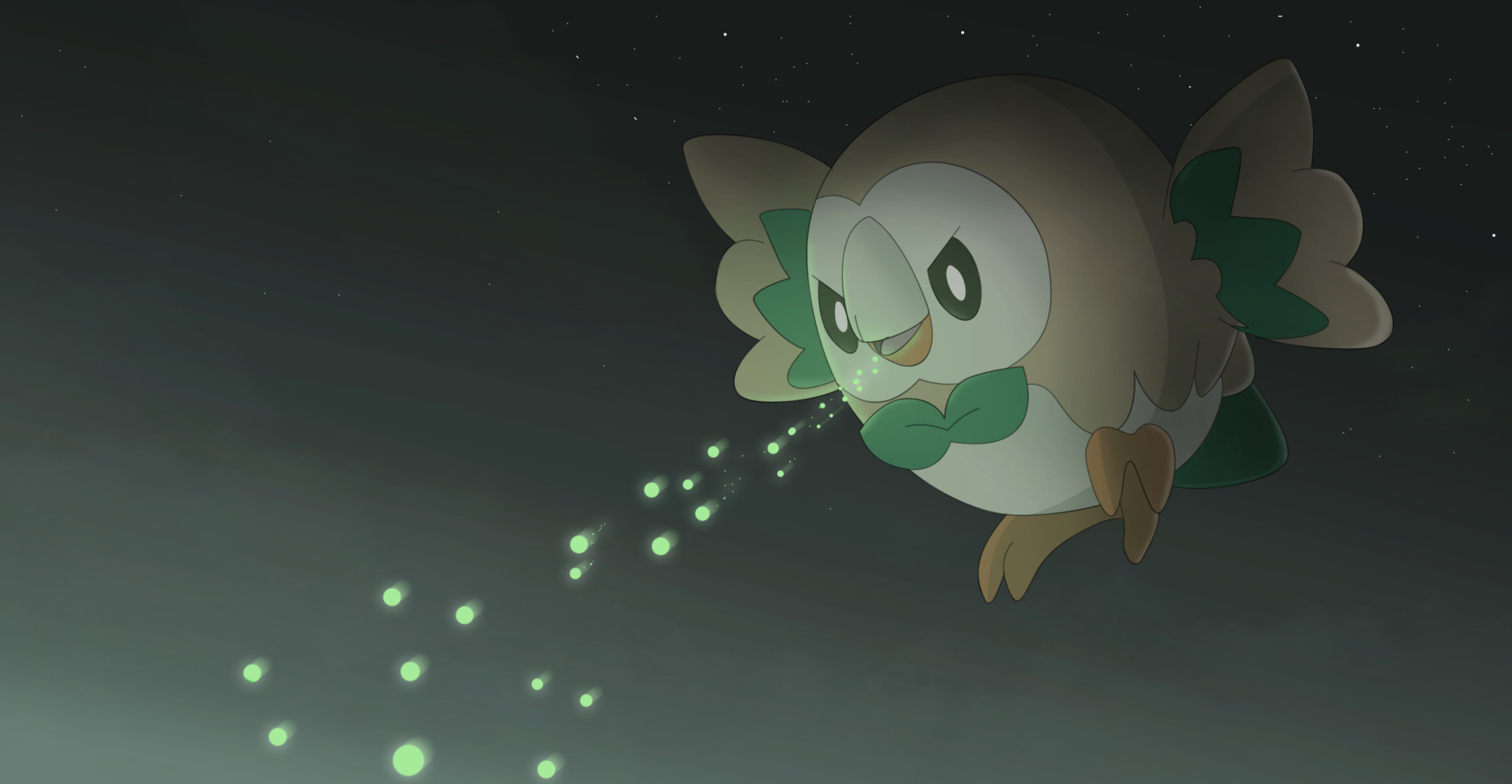 2500x1297 Video Game - Pokémon Sun and Moon Pokémon Rowlet (Pokémon) Wallpaper