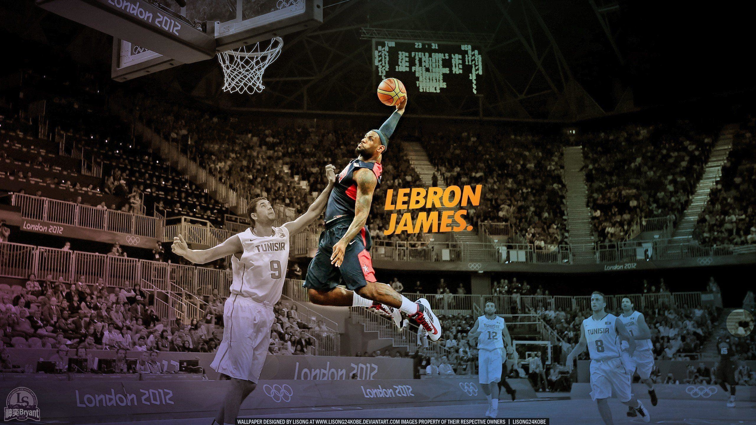 2560x1440 Slam dunk nba basketball lebron james championship miami heat .