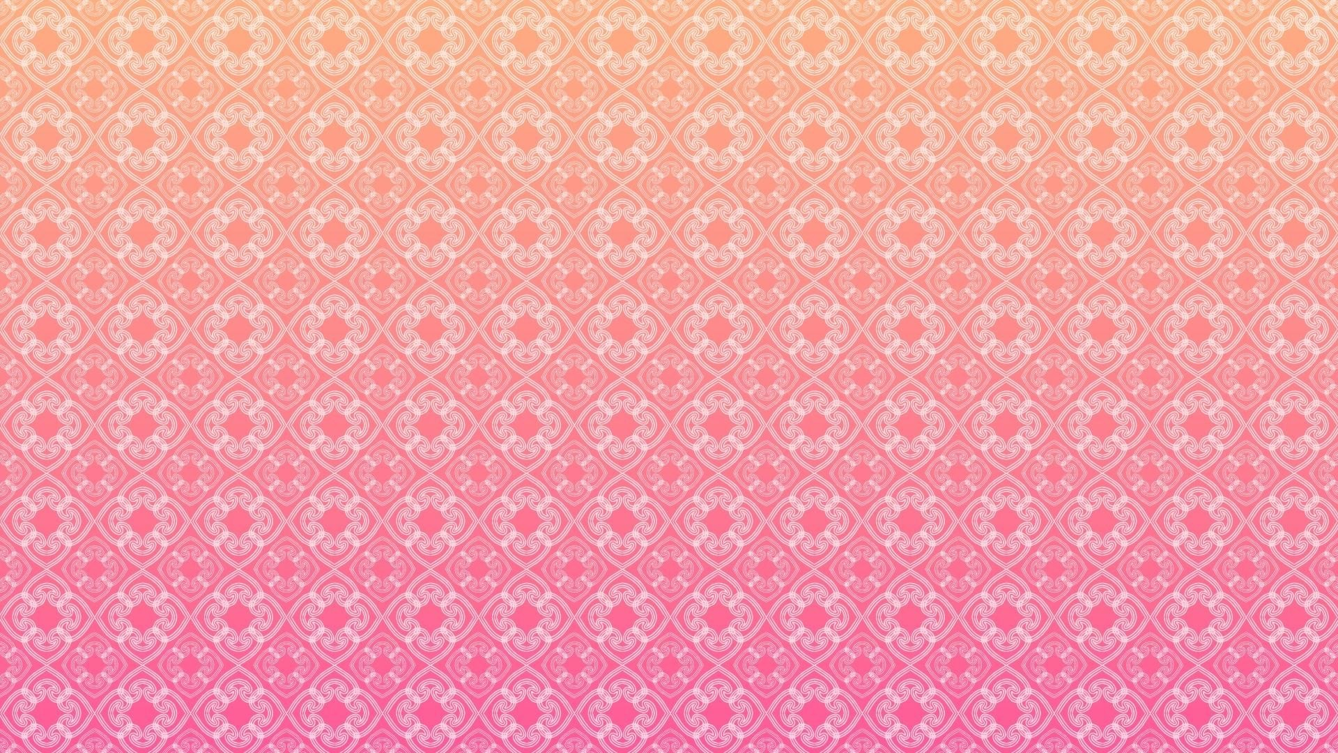 1920x1080 pattern 1 - pink and orange (HD wallpaper) by *elideli on deviantART