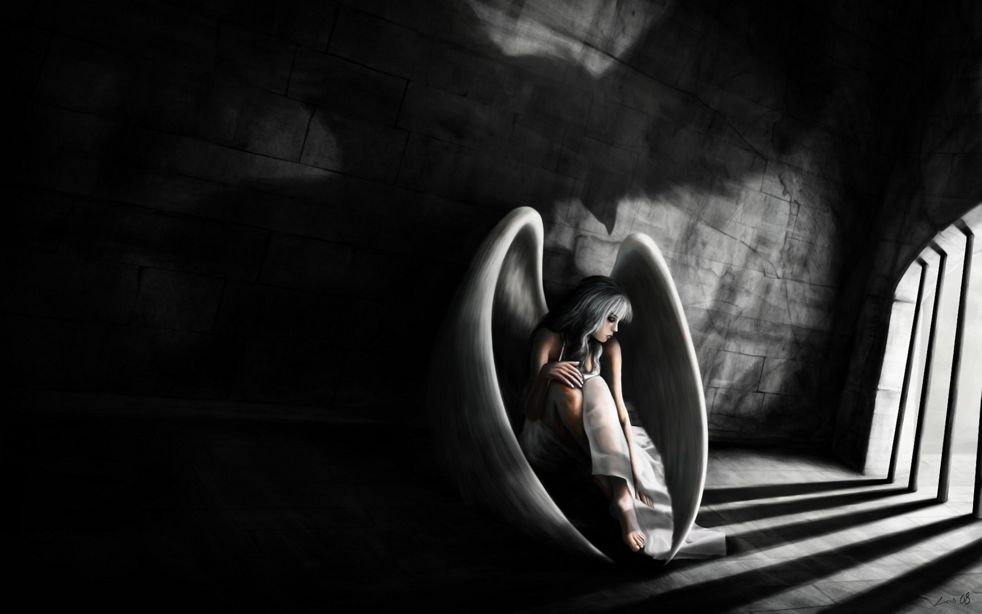 1920x1201 art, women,colourful, prison, download comic wallpapers, girl, iphone,fantasy,  abstract stock images, sorrow, bondage, sad, dark, mood, fallen angel ...
