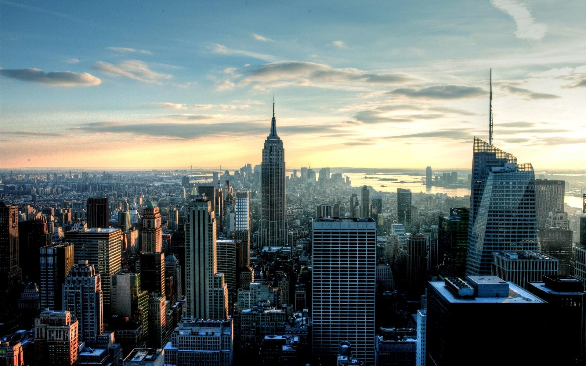 1920x1200 New York Skyline 2 Wallpaper HD hd backgrounds hd screensavers hd .