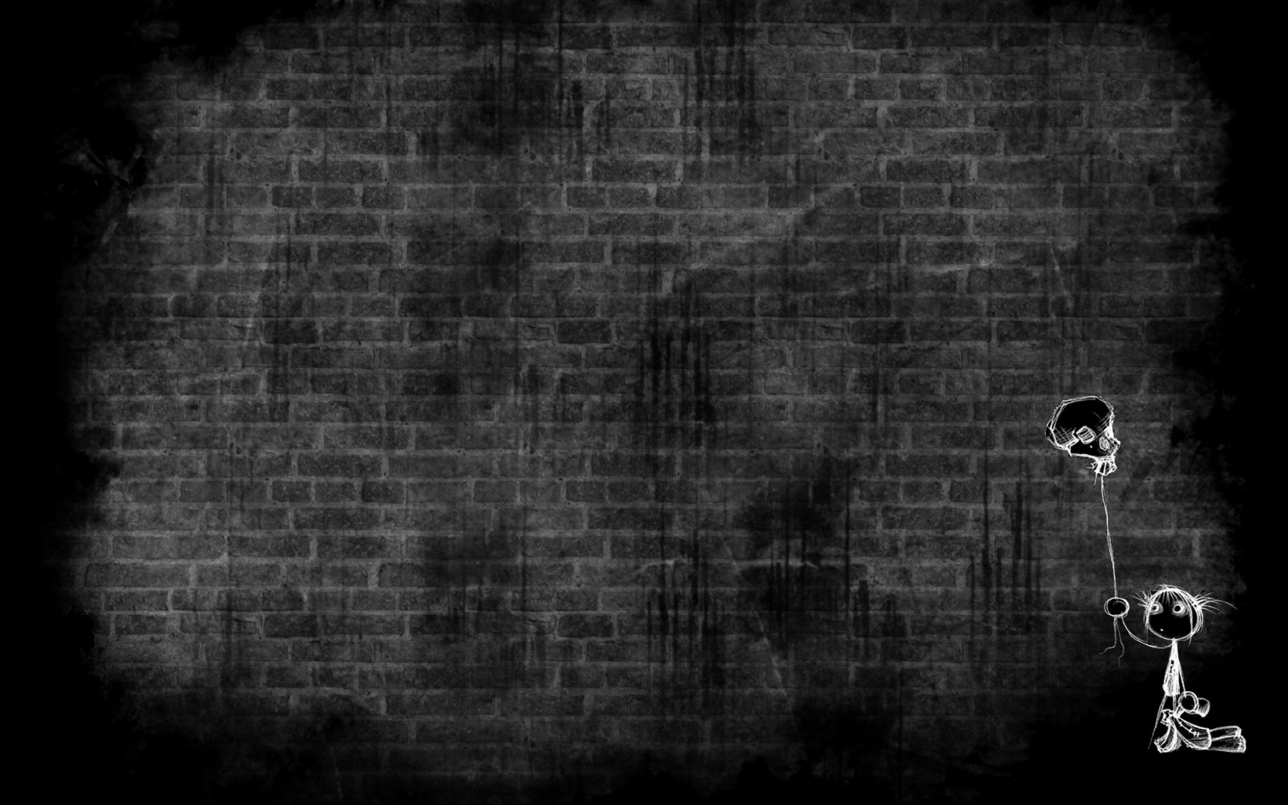 2560x1600 ... Home Design : Brick Wall Black And White Wallpaper Popular In Spaces  Dining brick wall black ...