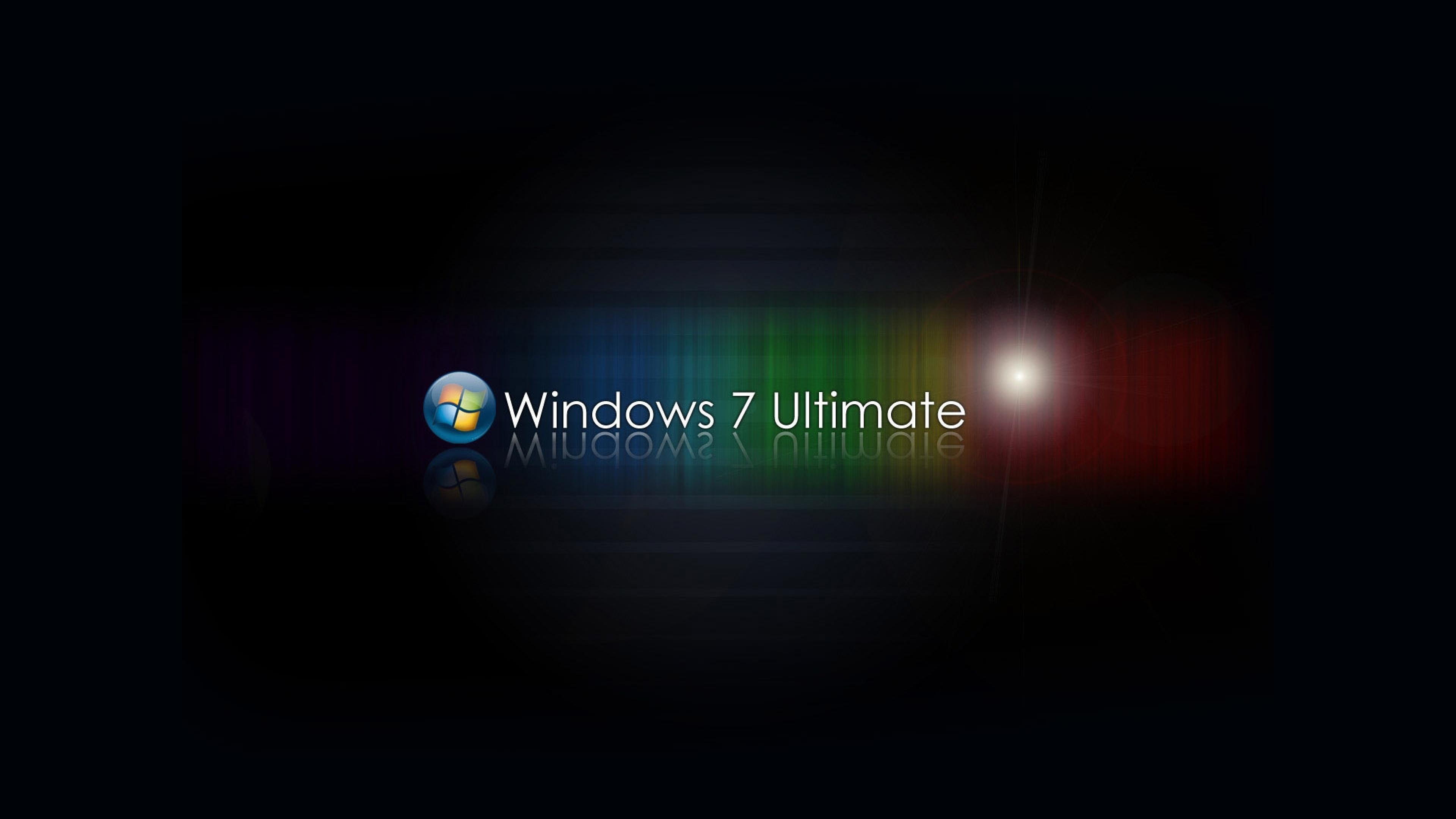 Windows 7 Ultimate Bright Black 4k Hd Desktop Wallpaper For