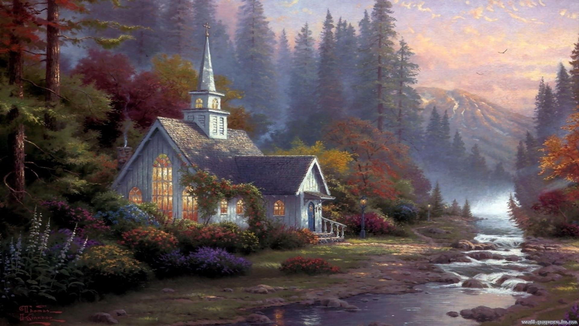 1920x1080 ... Great Thomas Kinkade Wallpaper Download free wallpapers and desktop  backgrounds in a variety of screen resolutions