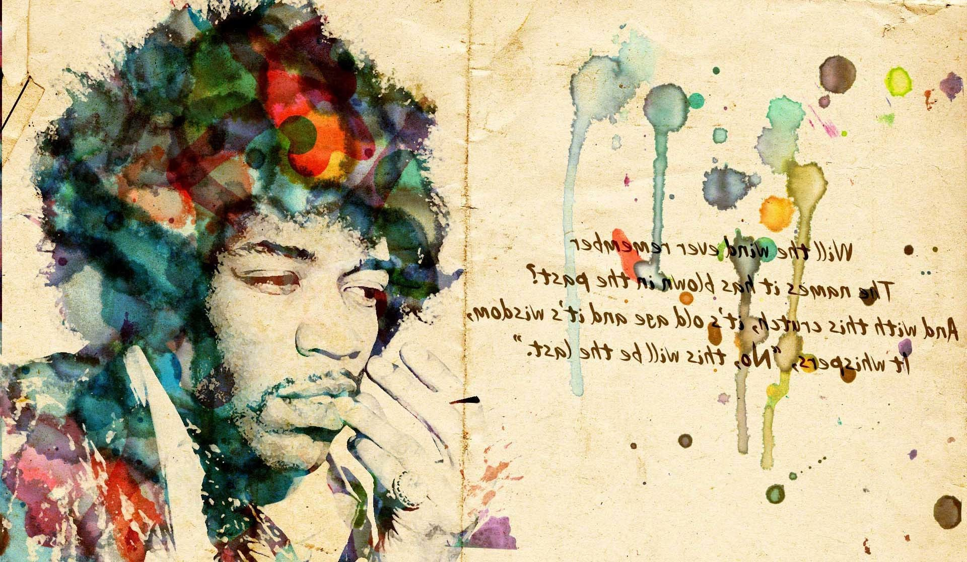 1920x1116 Text Jimi Hendrix Artwork Wallpapers HD / Desktop and Mobile Backgrounds