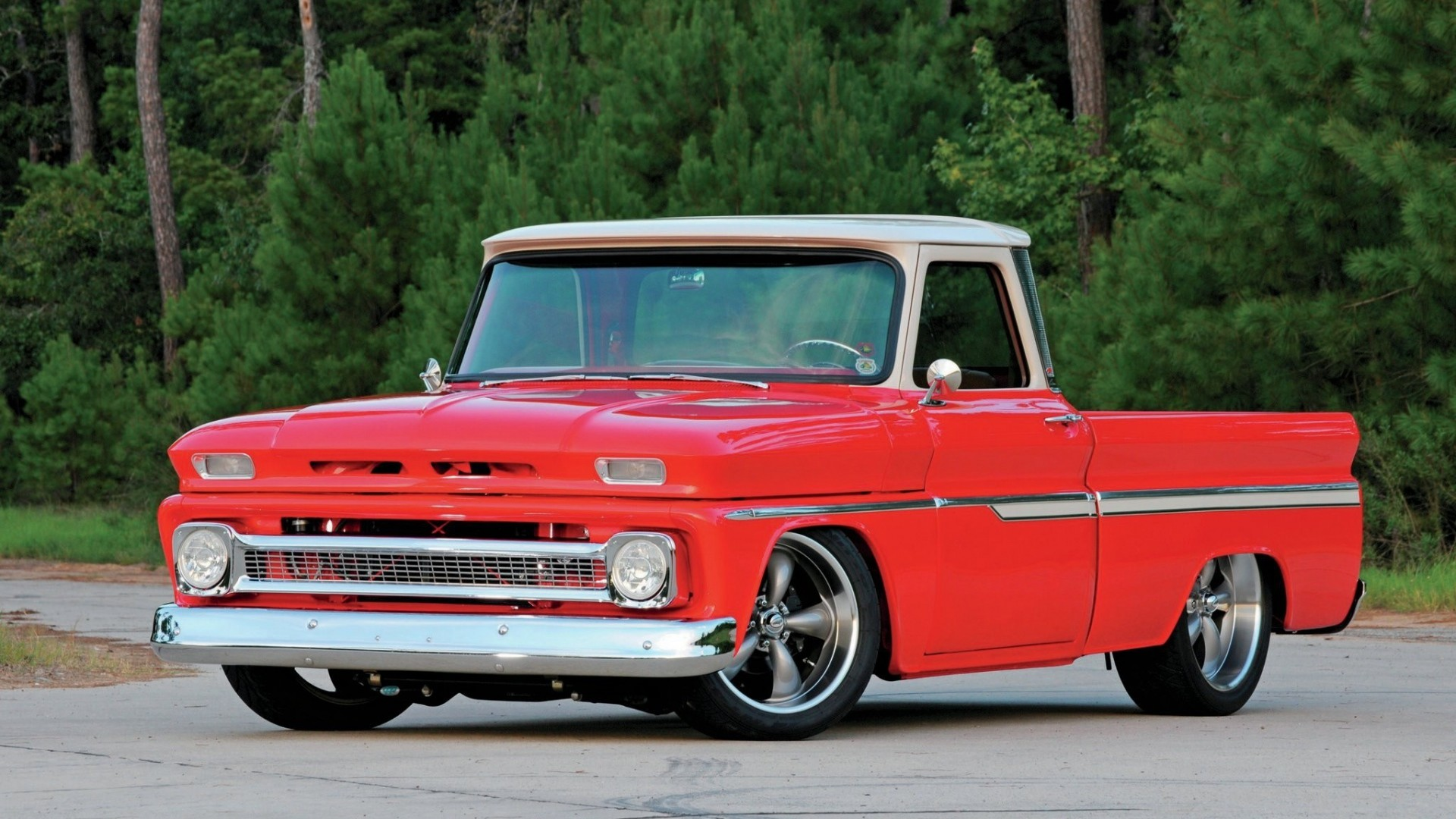 1920x1080 Download now full hd wallpaper chevy c10 forest pickup retro chevrolet usa  ...