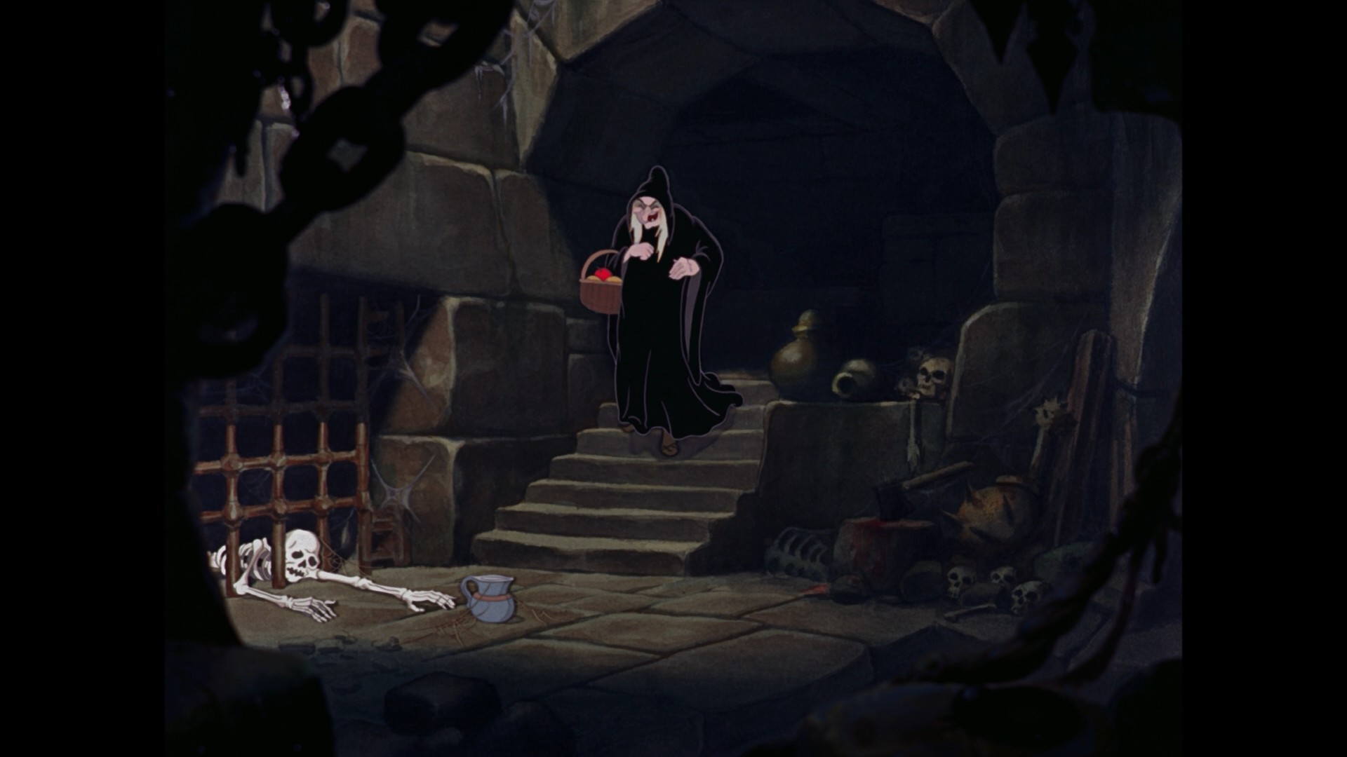 1920x1080 The queen's dungeon from Snow White. Painted with watercolor.