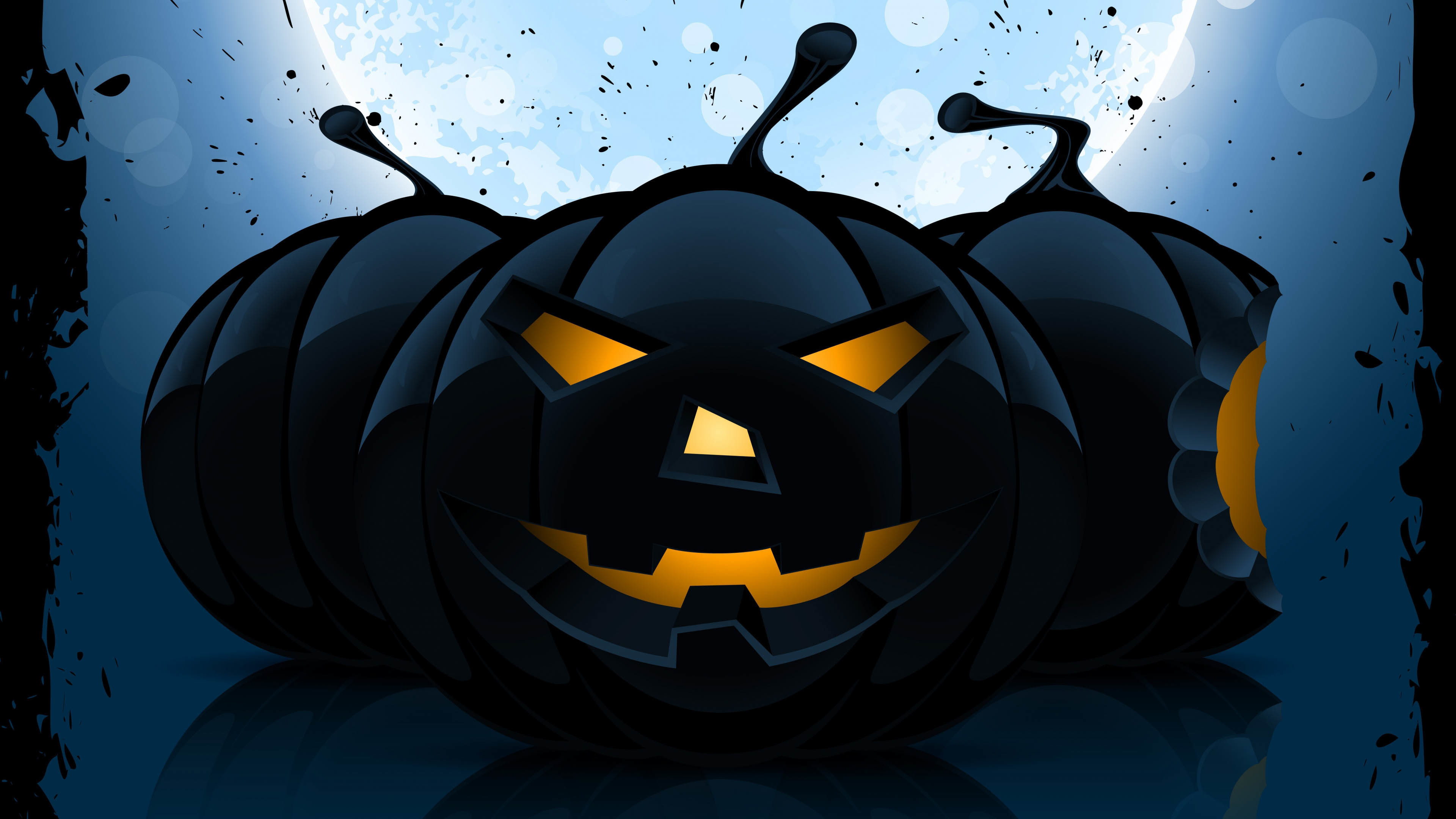 3840x2160 Halloween Pumpkin in the Dark  wallpaper