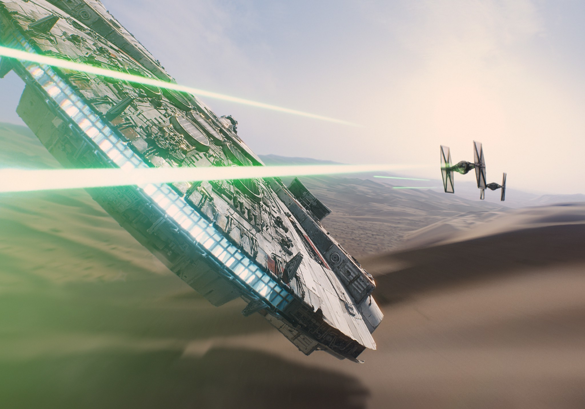 2048x1432 Star Wars, Star Wars: Episode VII The Force Awakens, Millennium Falcon