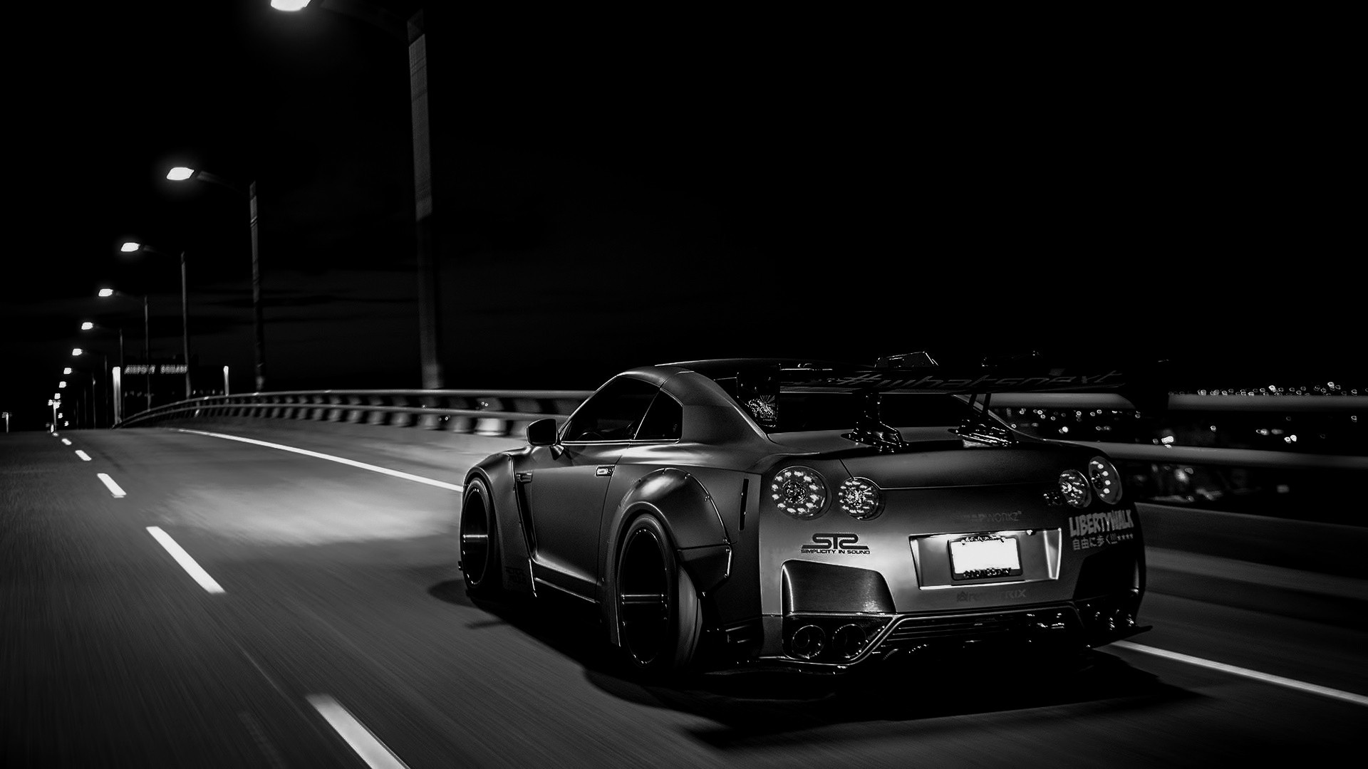 1920x1080 General  tuning Nissan Skyline GT-R R35 Liberty Walk Nissan GTR car