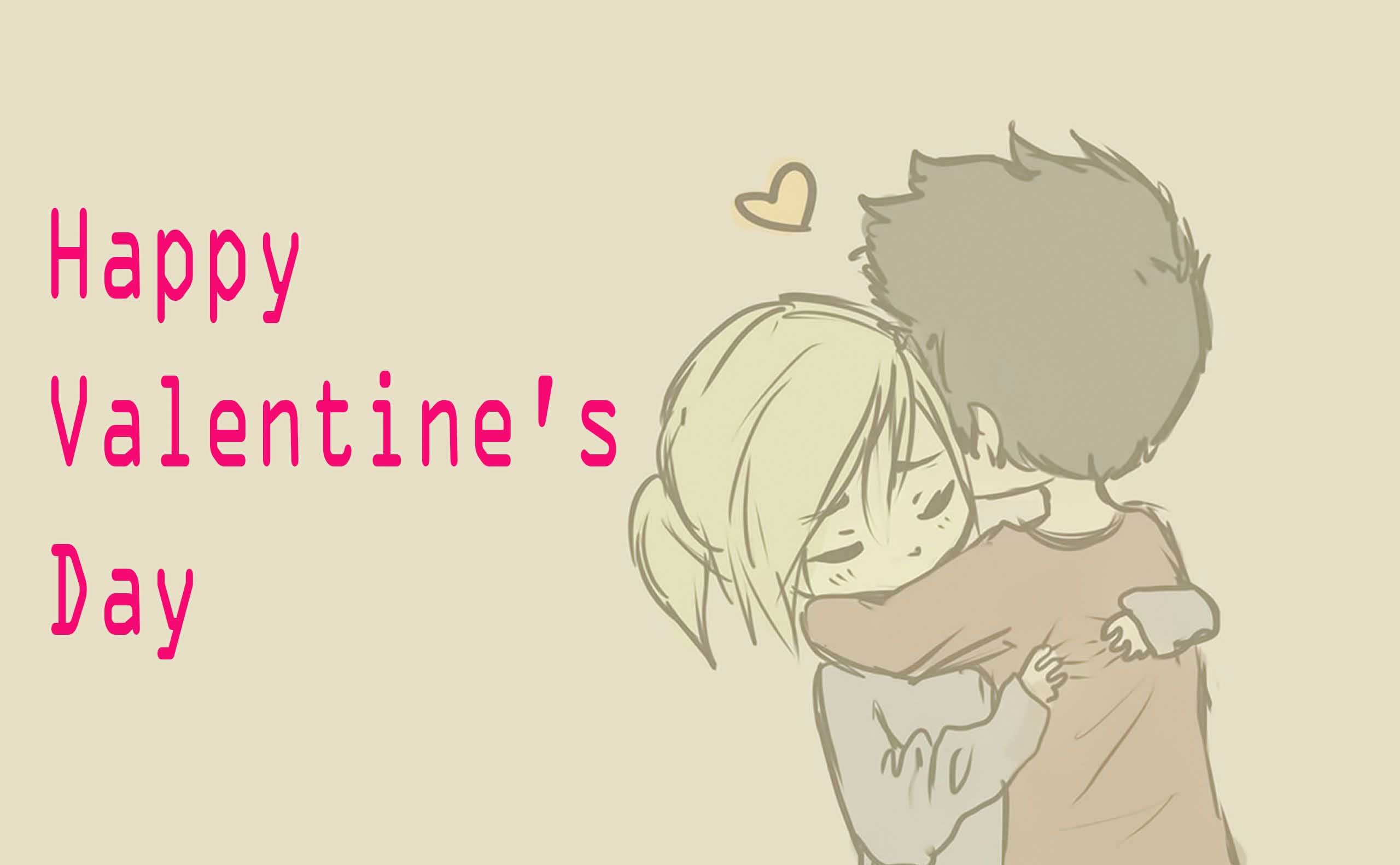 2560x1582 Cartoon love couple hd wallpaper for happy valentines day free download. Â«Â«