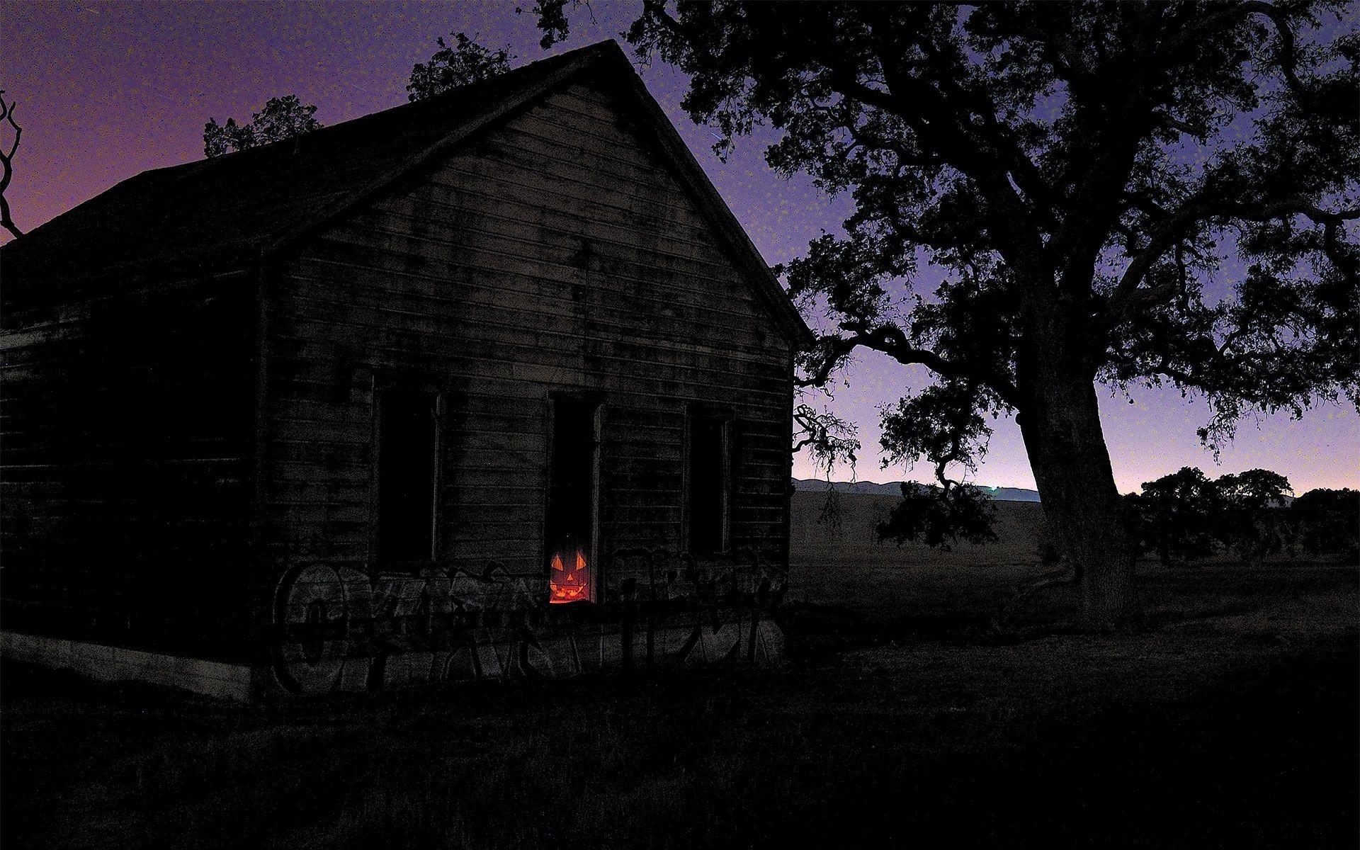 1920x1200 House Creepy Halloween Haunted Lights Windows Wallpaper At Dark Wallpapers