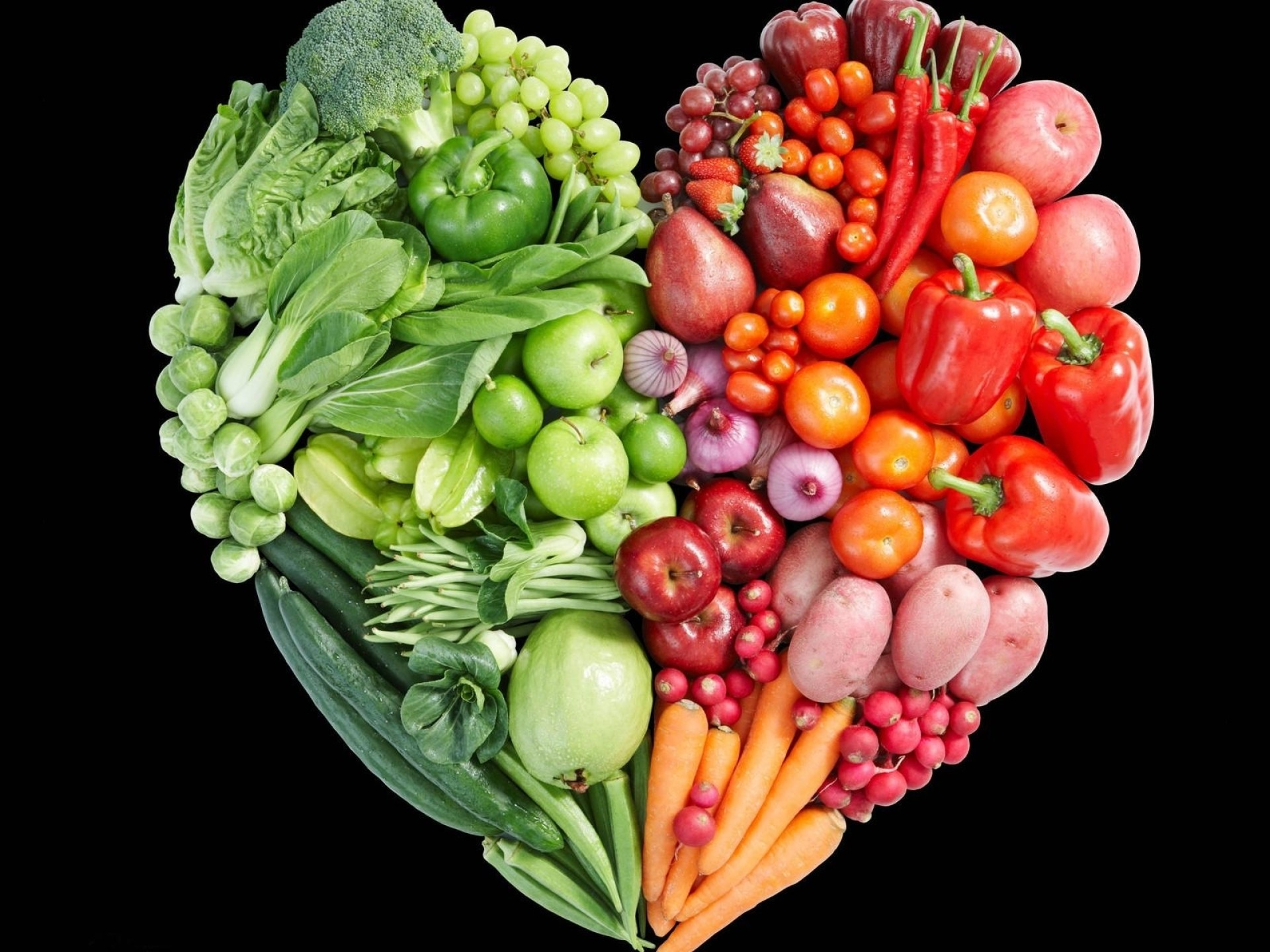 1920x1440 Previous: Vegetable & Fruit Heart ...