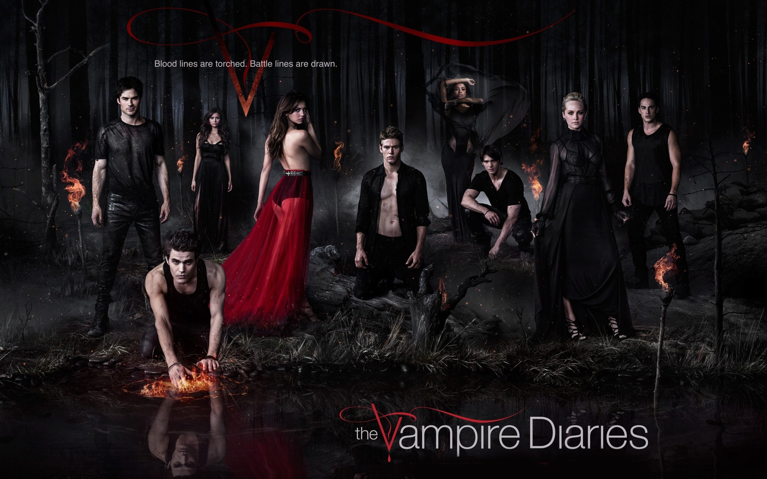 2560x1600 ... New Elegant Vampire Diaries Super HD Background Wallpapers ...