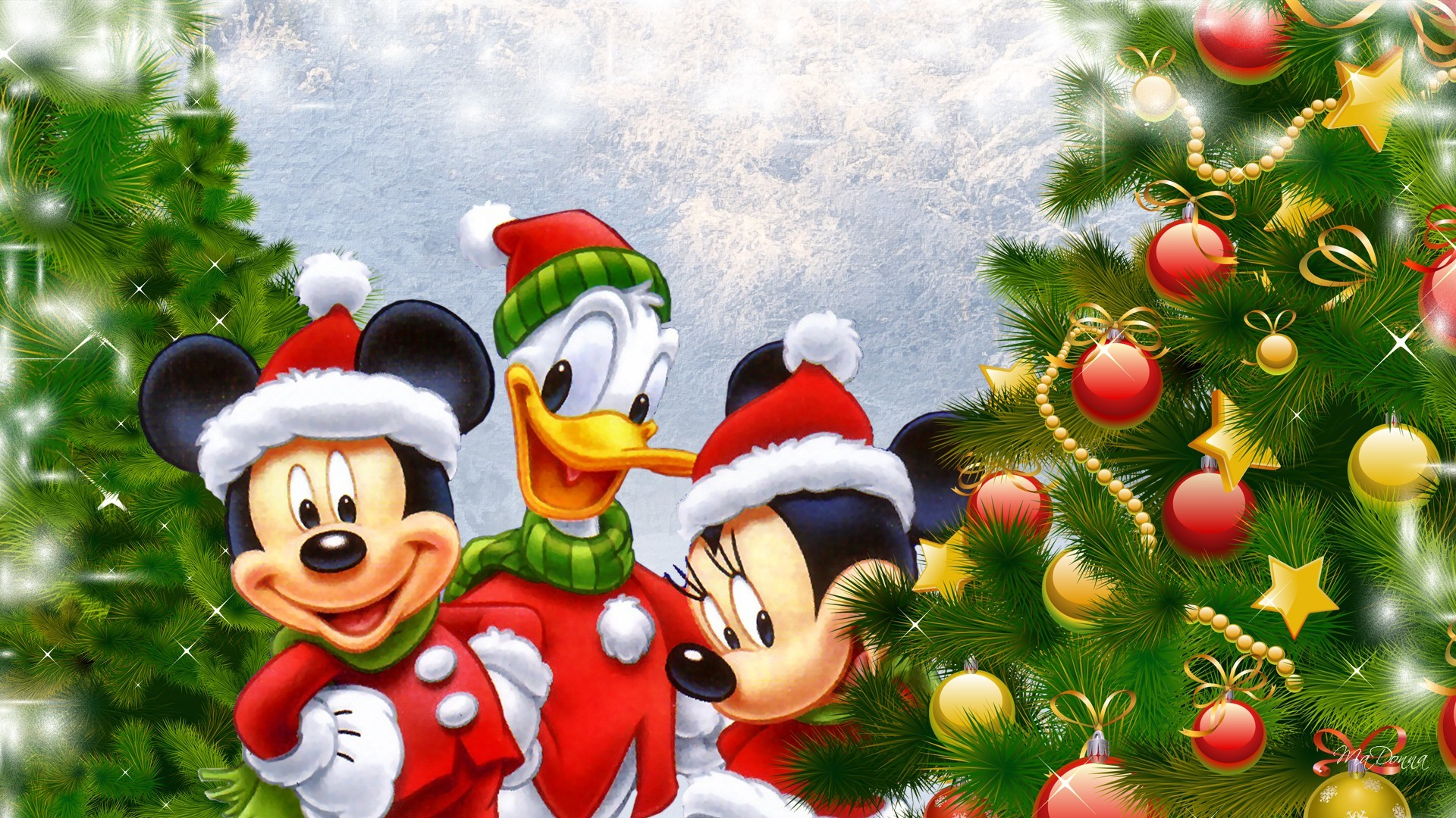 1920x1080 ... disney donald duck mickey and minnie mouse christmas tree desktop;  mickey minnie wallpapers ...