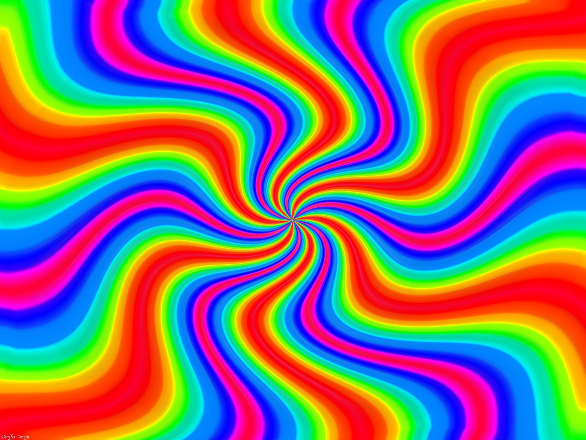 1920x1440 Wallpapers Rainbows Twister Rainbow Abstract Art Chaos Colors .