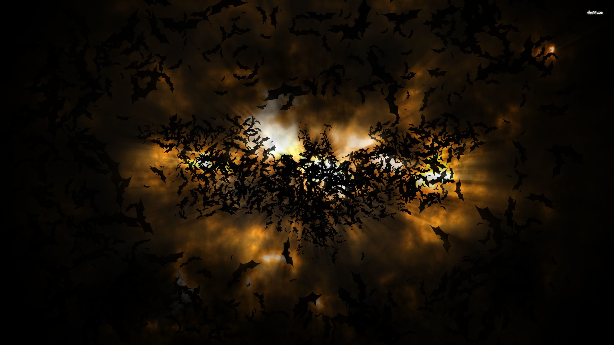 2560x1440 Batman logo formed from bats wallpaper - Digital Art wallpapers .
