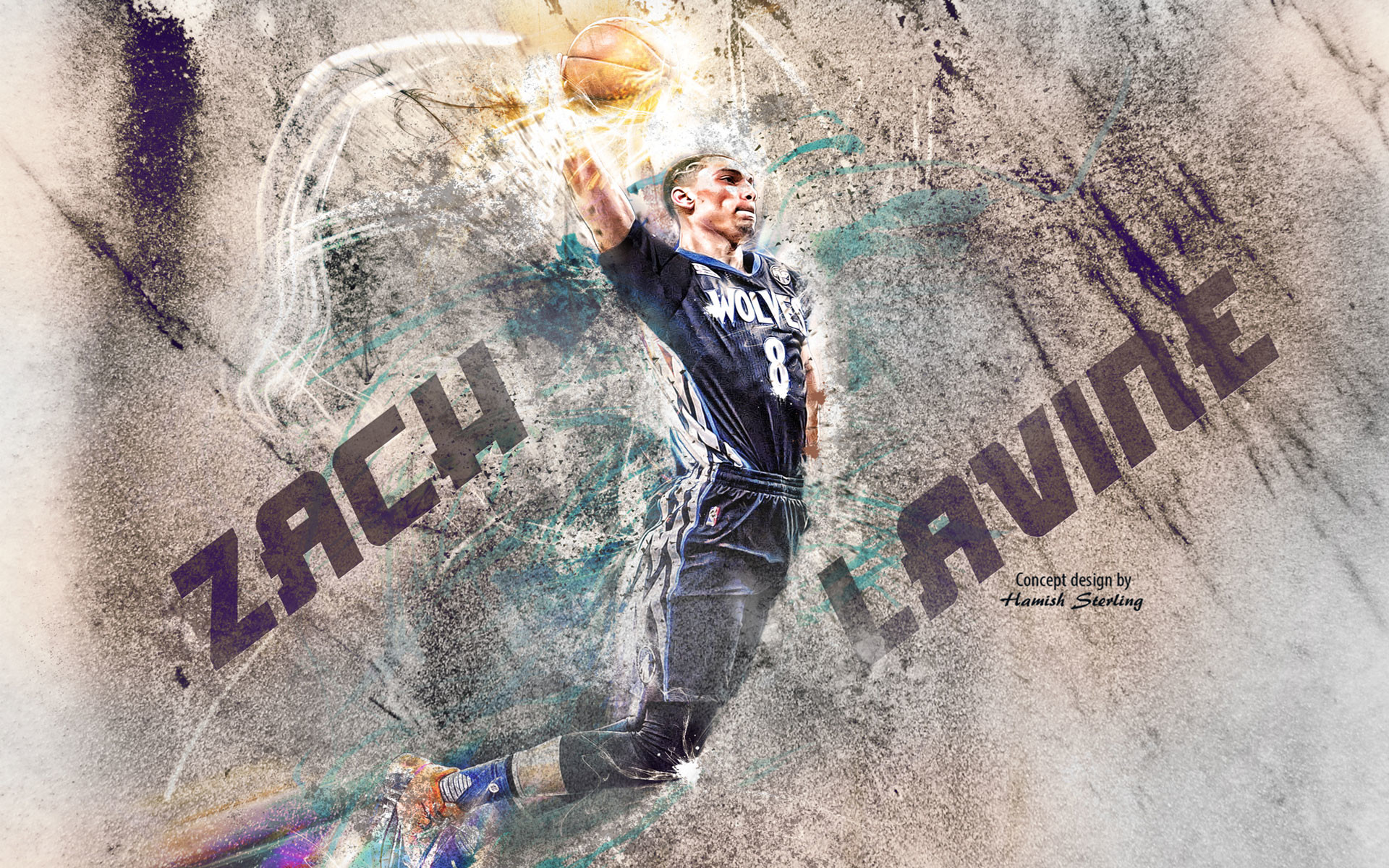 1920x1200 Zach LaVine 2016 Slam Dunk Wallpaper