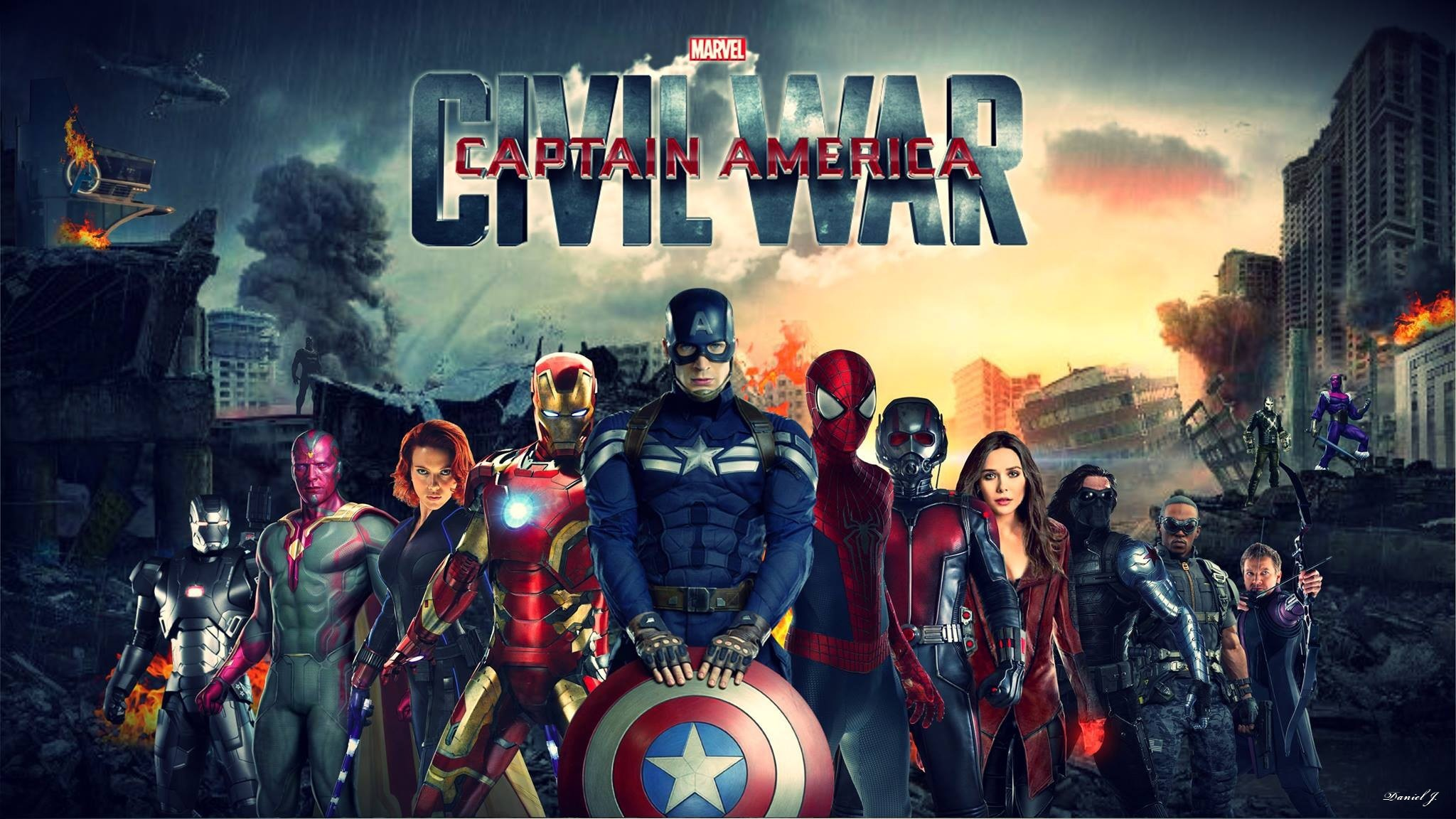2048x1152 Captain America Civil War Wallpapers Images Photos Pictures.