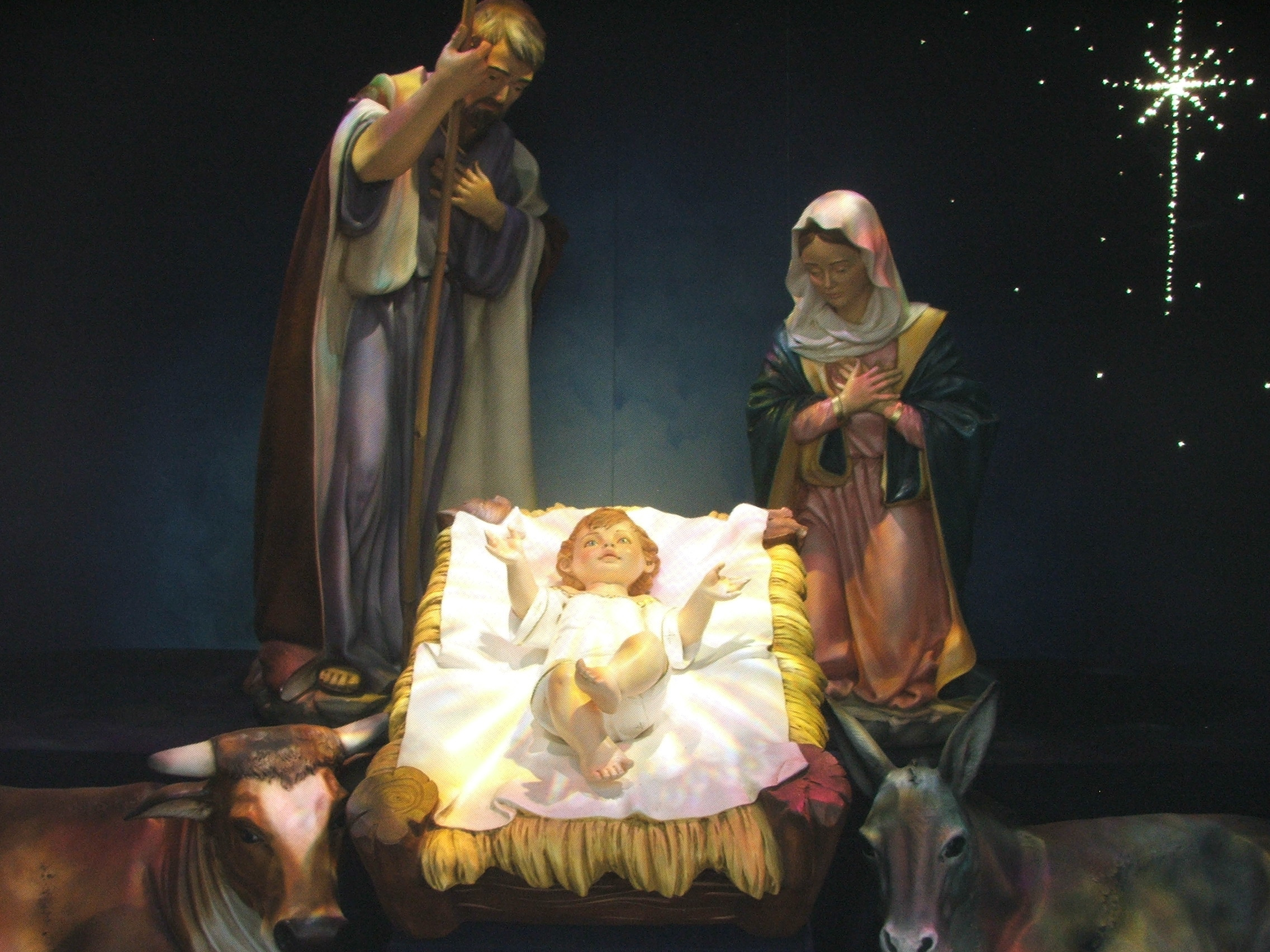 Santa And Baby Jesus Wallpaper 59 Images