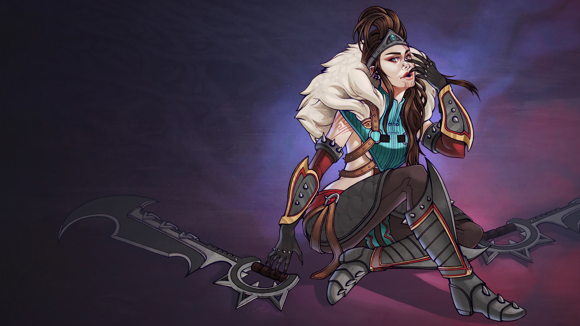 1920x1080 Female Draven by ElizabethBeals Gender Swap Bend HD Wallpaper Fan Art  Artwork League of Legends lol