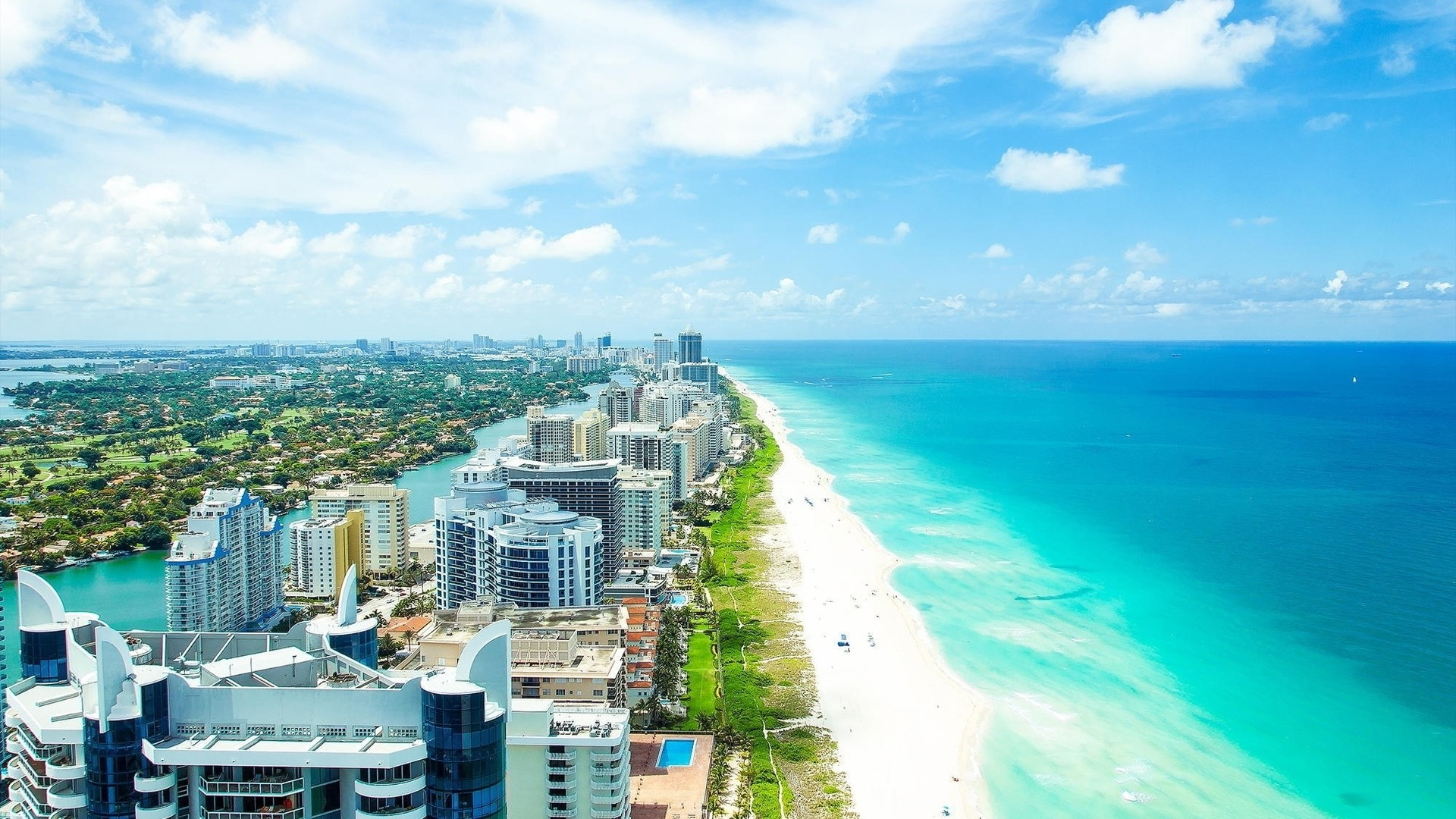 1920x1080 Miami Beach Wallpaper
