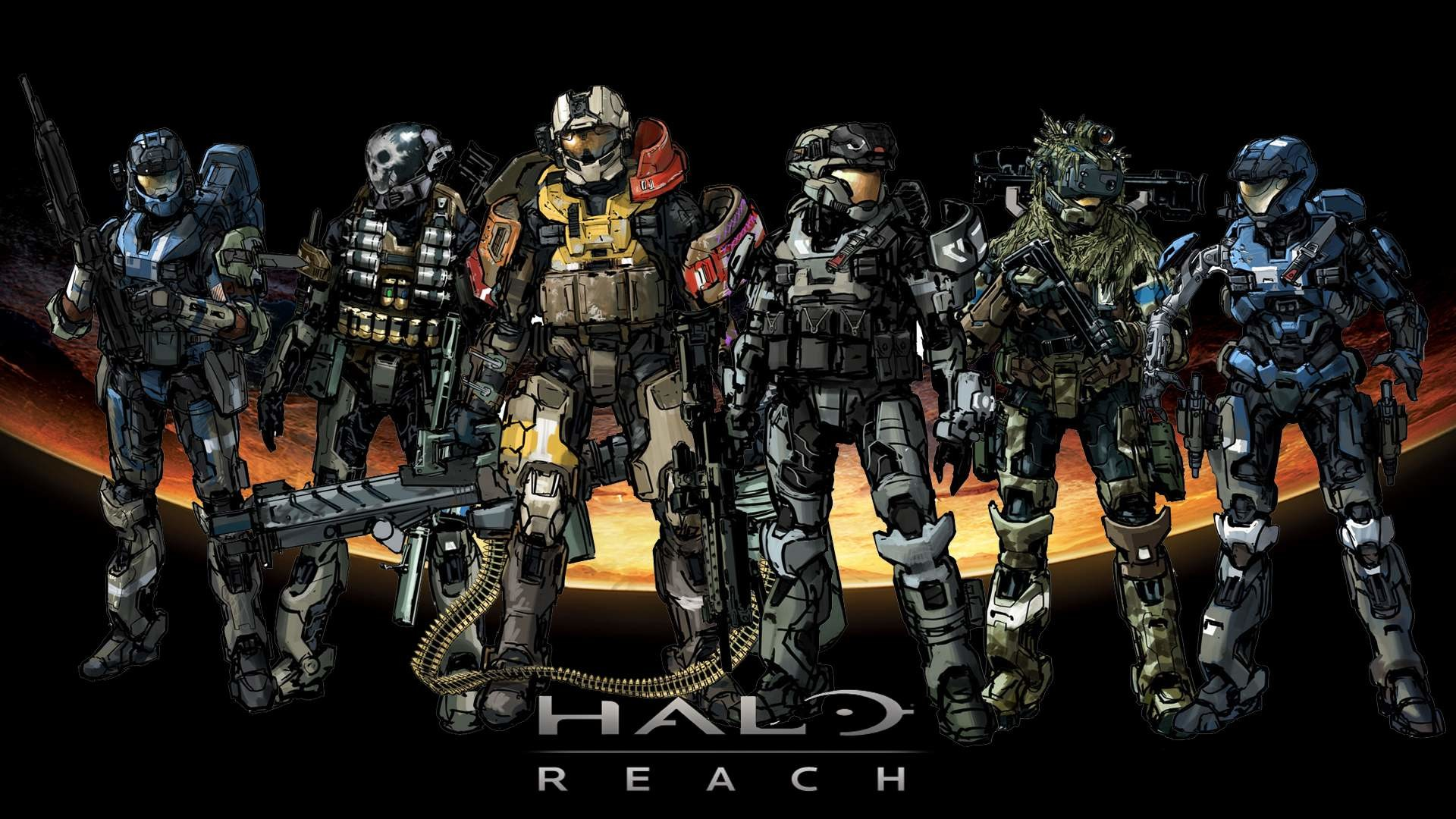 1920x1080 halo backgrounds | Halo Reach 1080p Wallpaper Halo Reach 720p Wallpaper