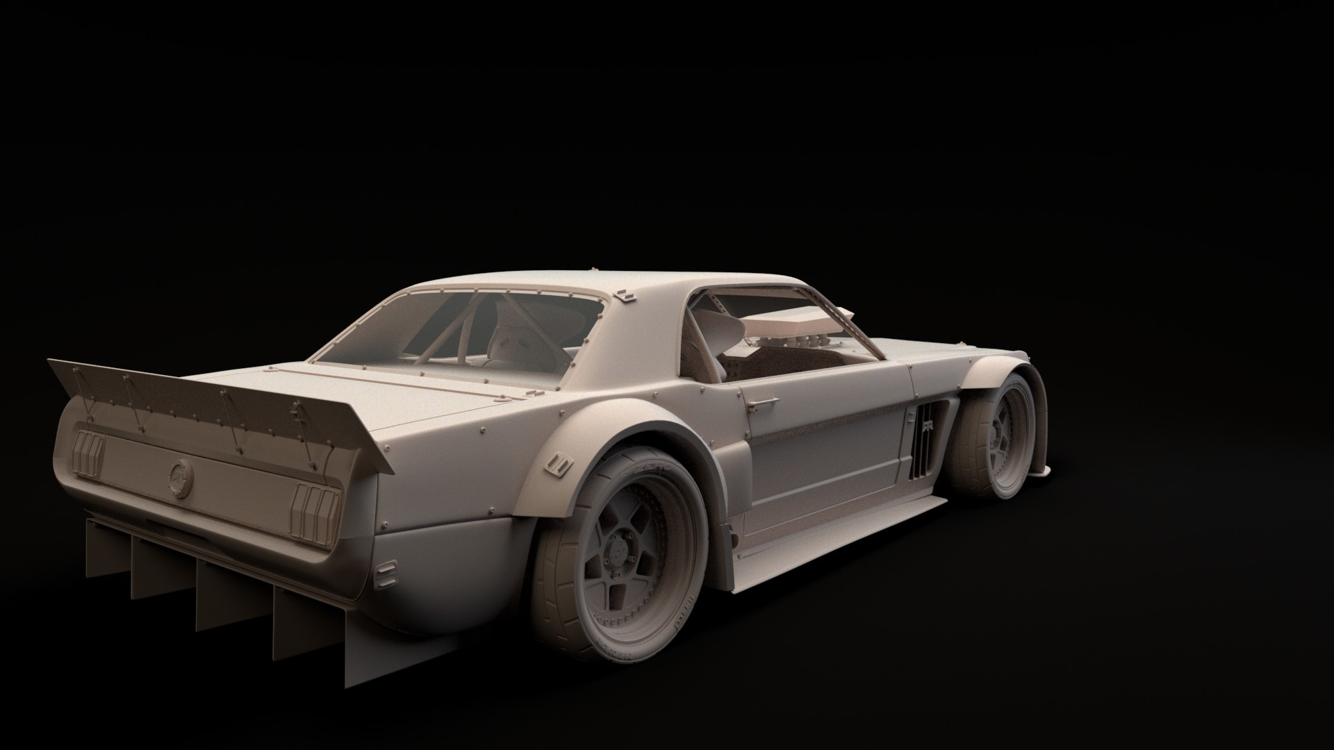 1920x1080 Ford Mustang Hoonicorn RTR 3D model Turnaround