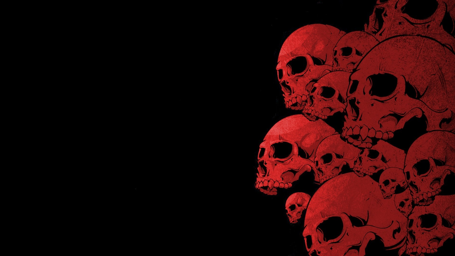 Res: 1920x1080, Dark - Skull Wallpaper