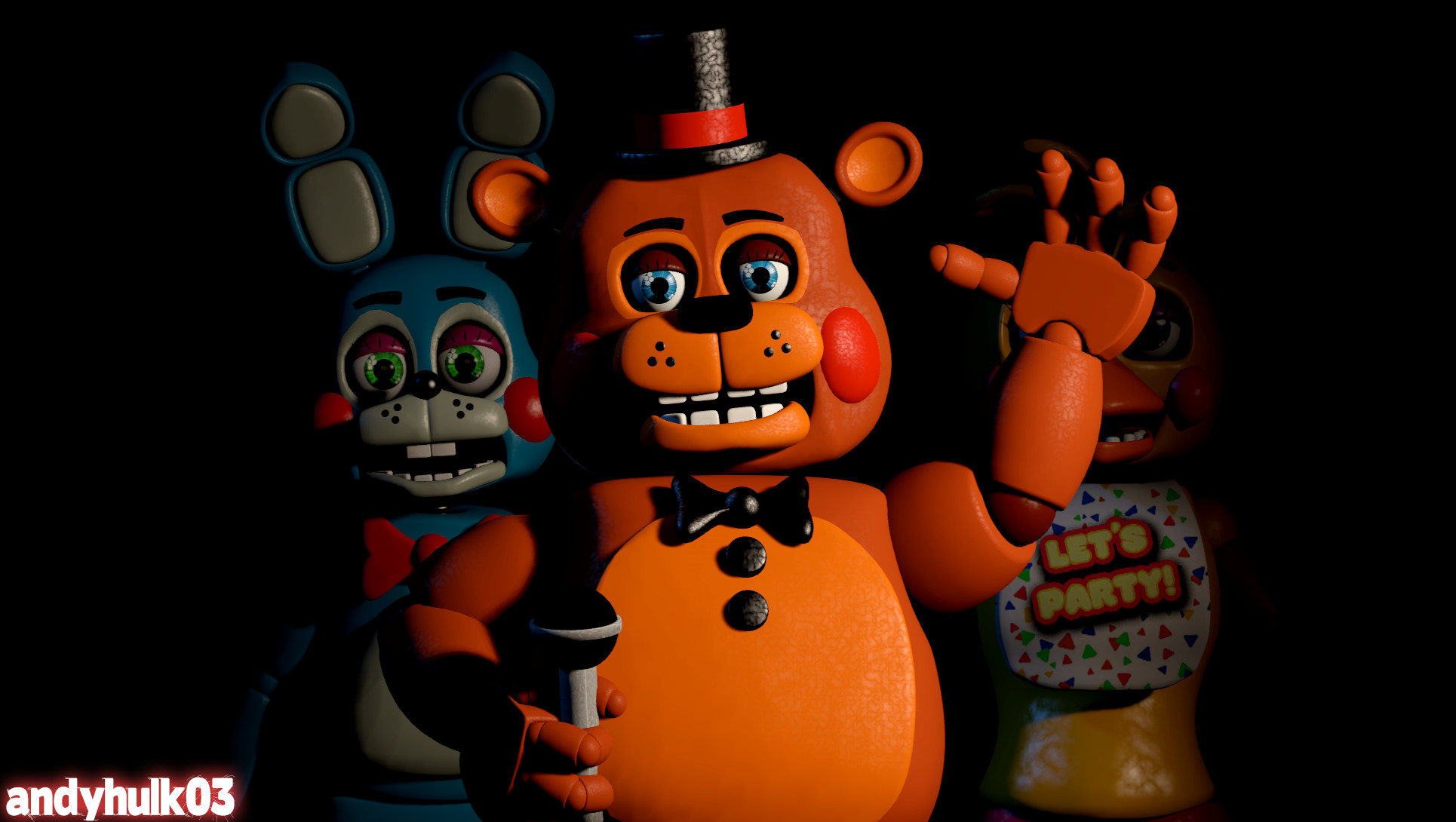 1930x1090 Toy Freddy and the 1987 Pizza Variety Band (FNAF 2)